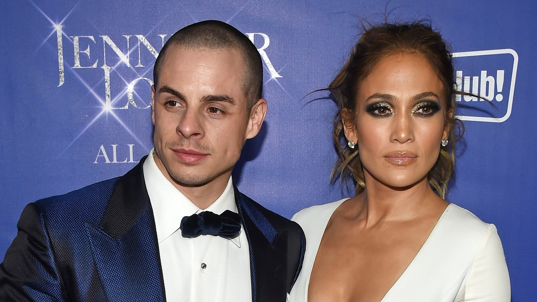 "LAS VEGAS, NV - JANUARY 21:  Choreographer/dancer Beau ""Casper"" Smart (L) and singer/actress Jennifer Lopez attend the after party for her residency ""JENNIFER LOPEZ: ALL I HAVE"" and the grand opening of Mr. Chow at Caesars Palace on January 21, 2016 in Las Vegas, Nevada.  (Photo by Ethan Miller/Getty Images)"