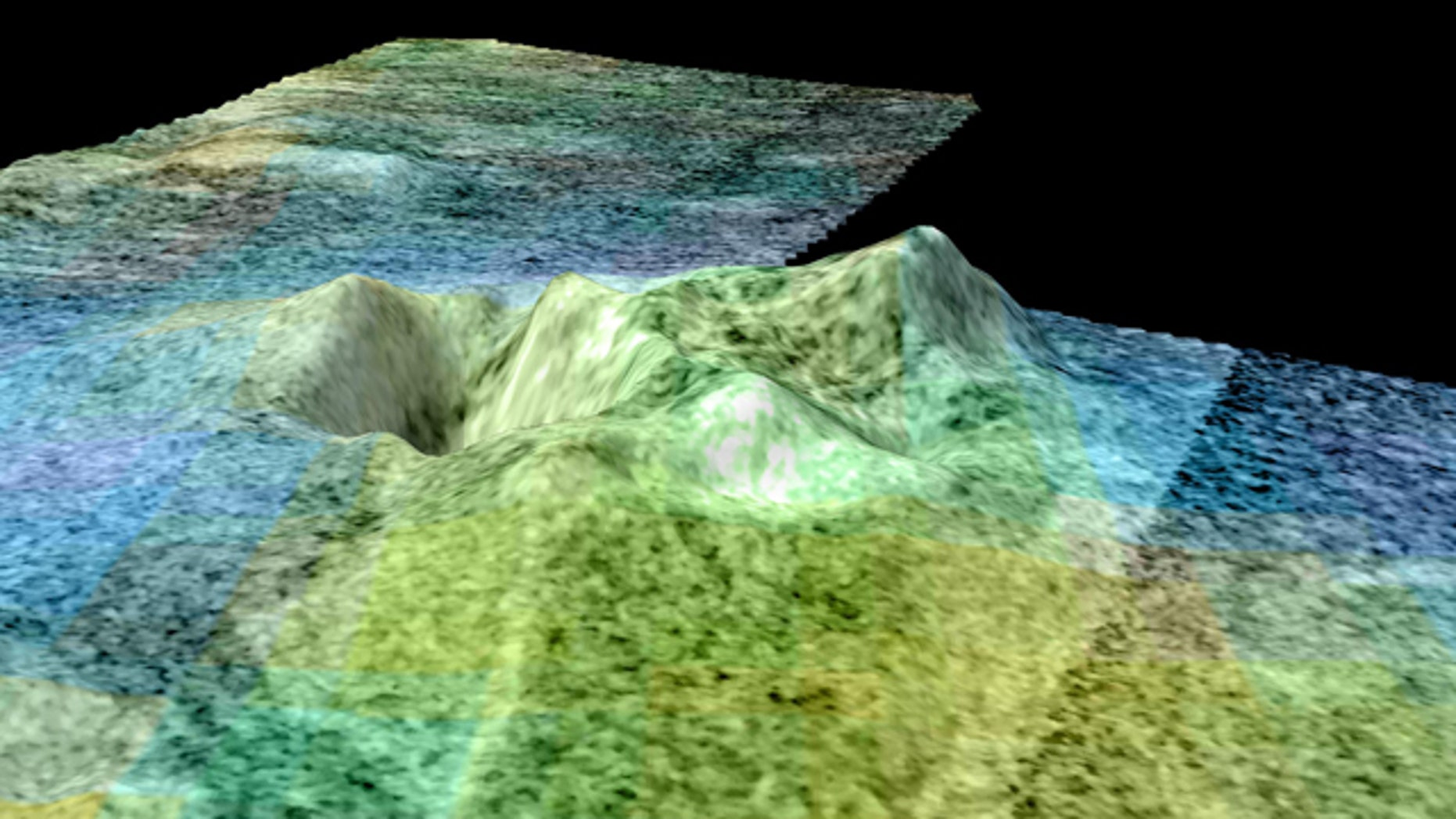 This image is based on data from NASA's Cassini spacecraft and shows a flyover of an area of Saturn's moon Titan known as Sotra Facula. Scientists believe Sotra is the best case for an ice volcano -- or cryovolcano -- region on Titan.