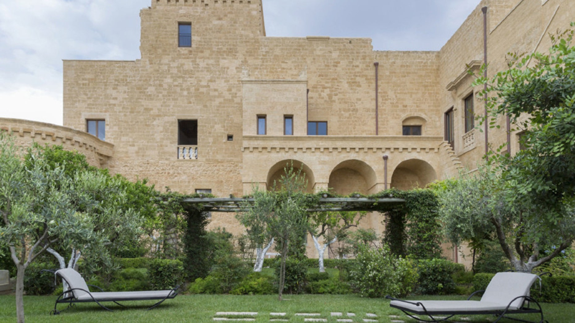 The castle hotel and its restaurant, called Castello di Ugento, formally opened in April.