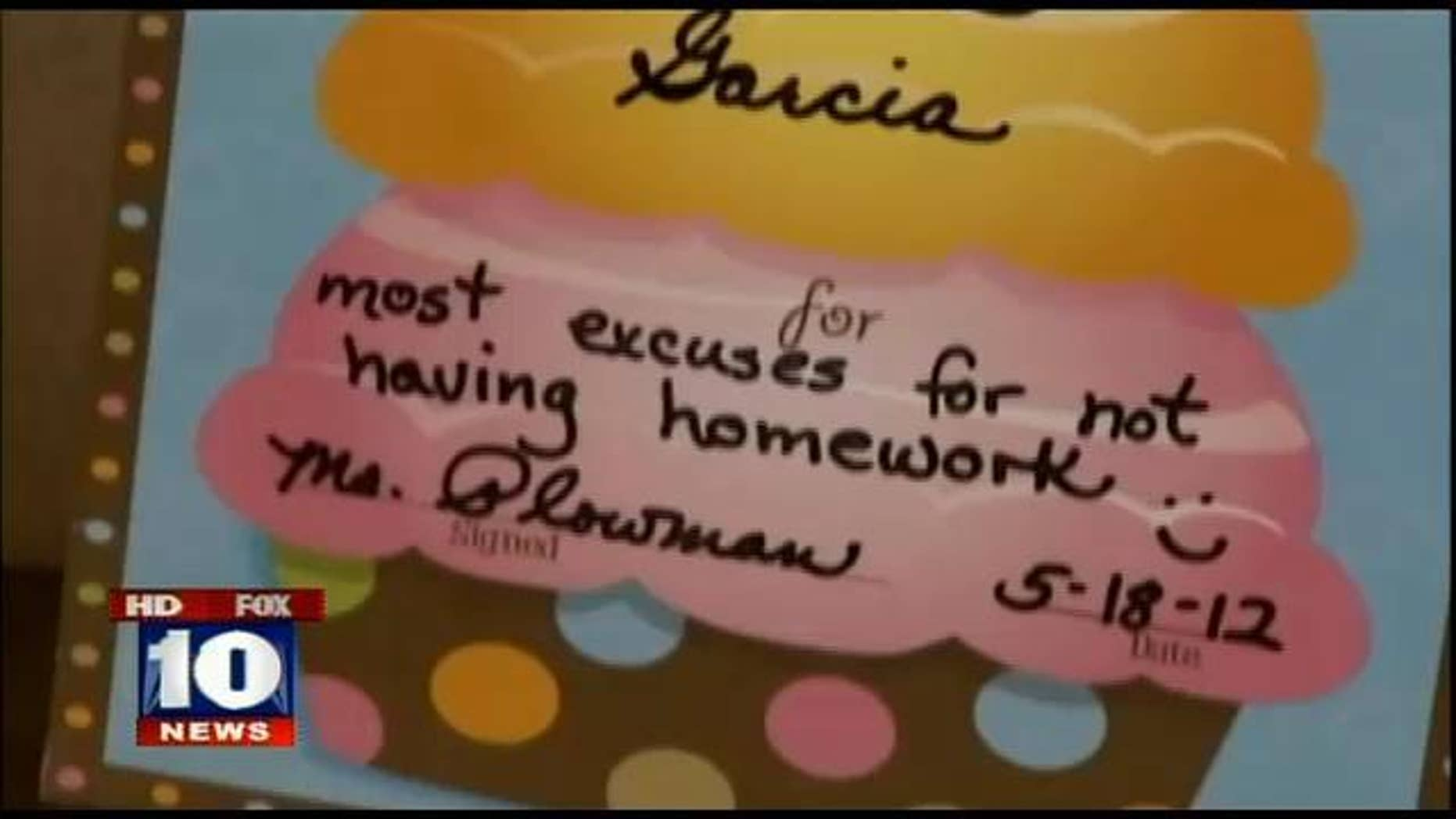 FILE: Teacher reportedly made this award for 8-year-old.