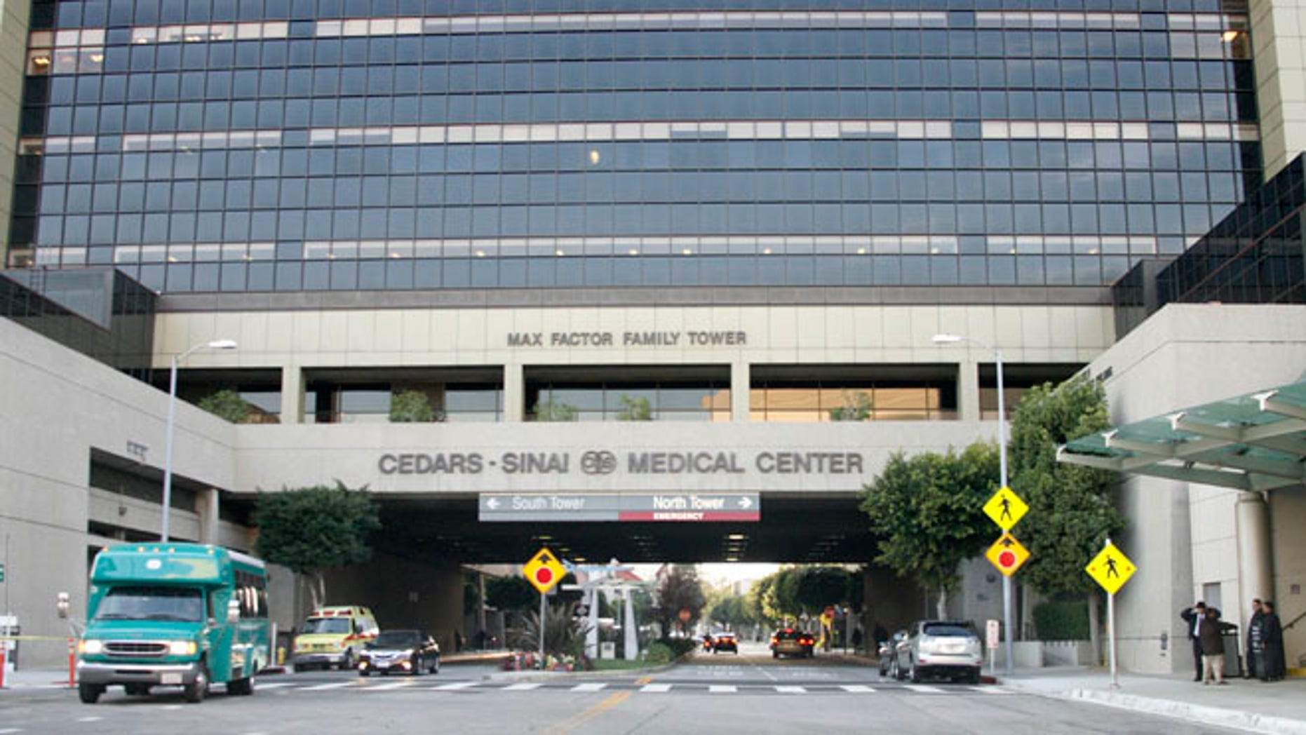 An exterior view of the Cedars Sinai Medical Center in Los Angeles, Calif. taken on December 9, 2009.