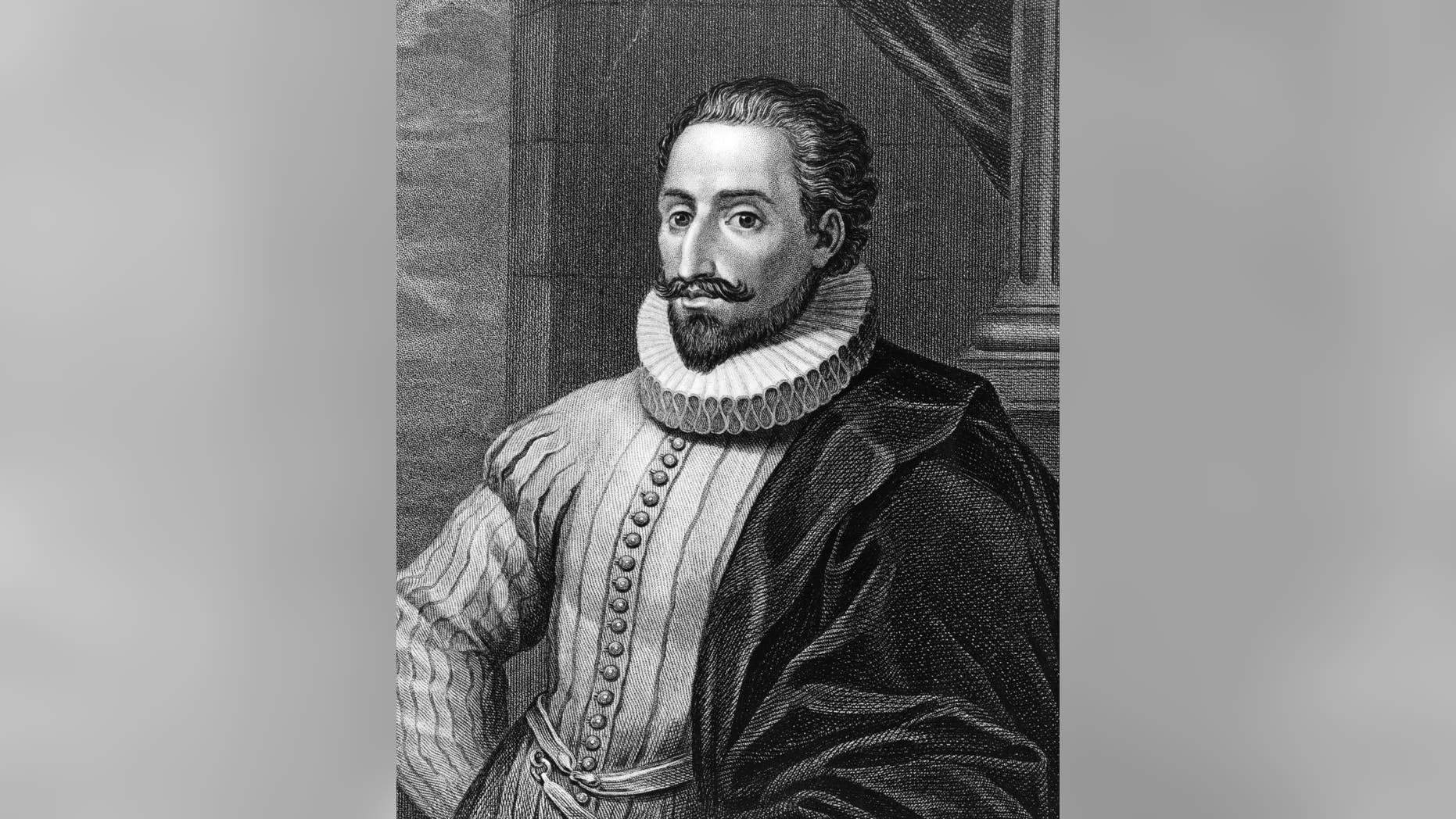 Spanish novelist Miguel de Cervantes (1547 - 1616), circa 1600. He was wounded at the battle of Lepanto in 1571,  captured and enslaved by pirates in Algeria in 1575. Once back in Spain, he began writing; 'Don Quixote' is considered his greatest work and was published in 1605 and 1615 (part II).   (Photo by Hulton Archive/Getty Images)