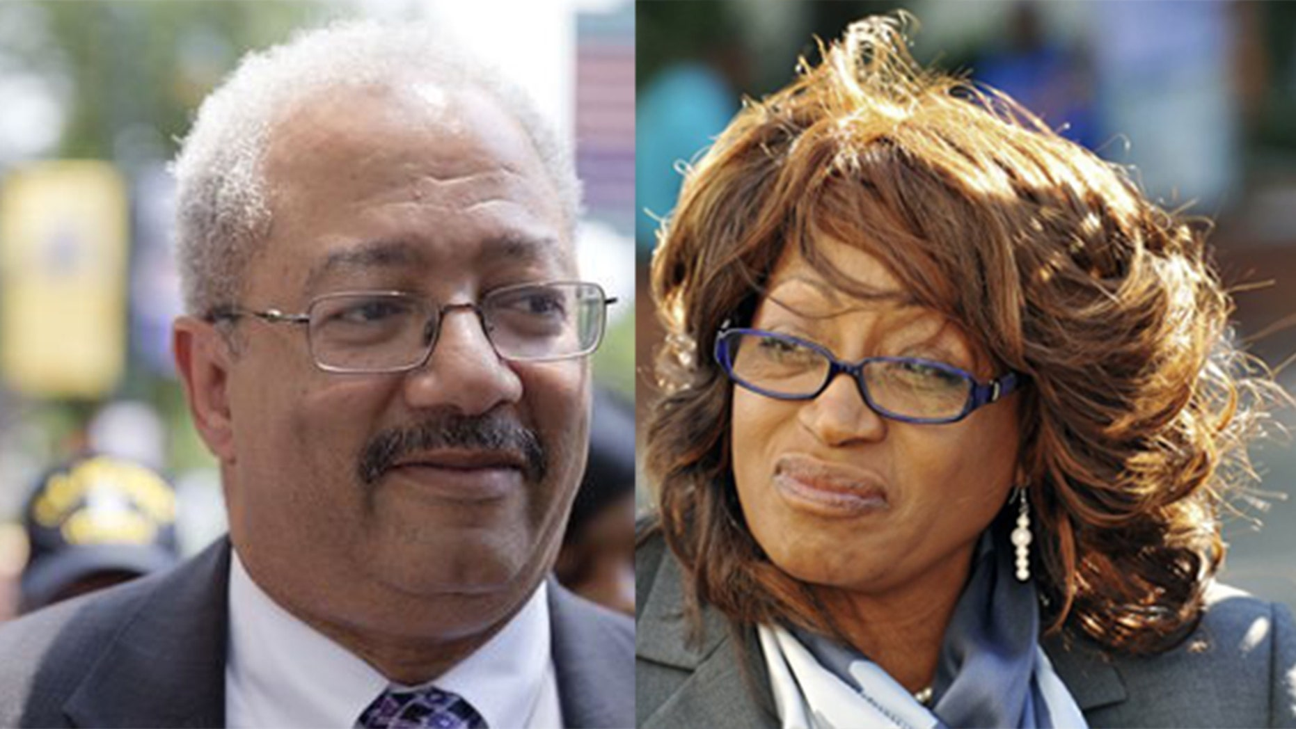 Former Reps. Chaka Fattah, D-Penn., and Corrine Brown, D-Fla., are still receiving taxpayer-funded pensions.