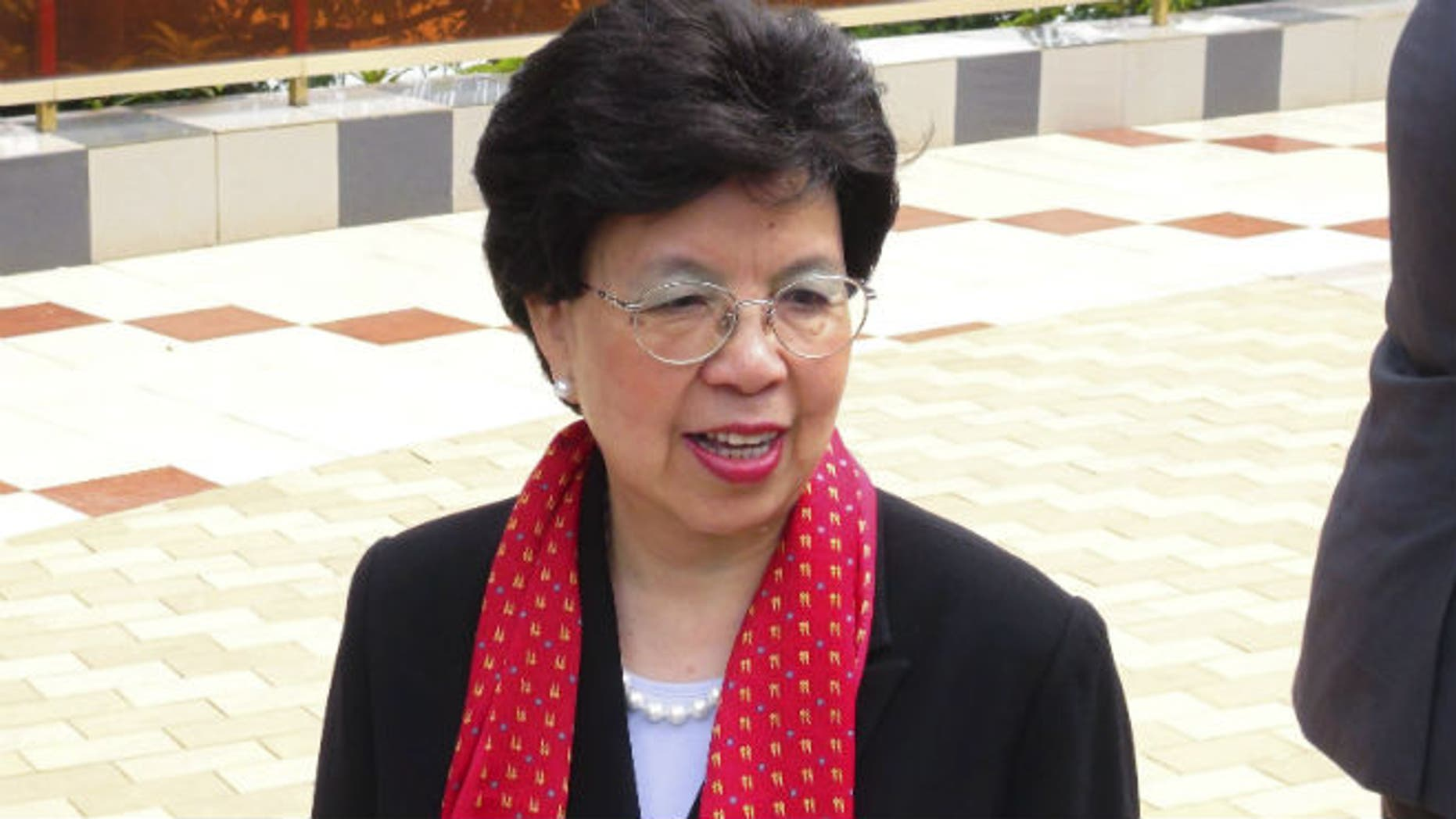 Margaret Chan, president of the World Health Organization, arrives for a conference on the Ebola virus in Conakry August 1, 2014. REUTERS/Saliou Samb