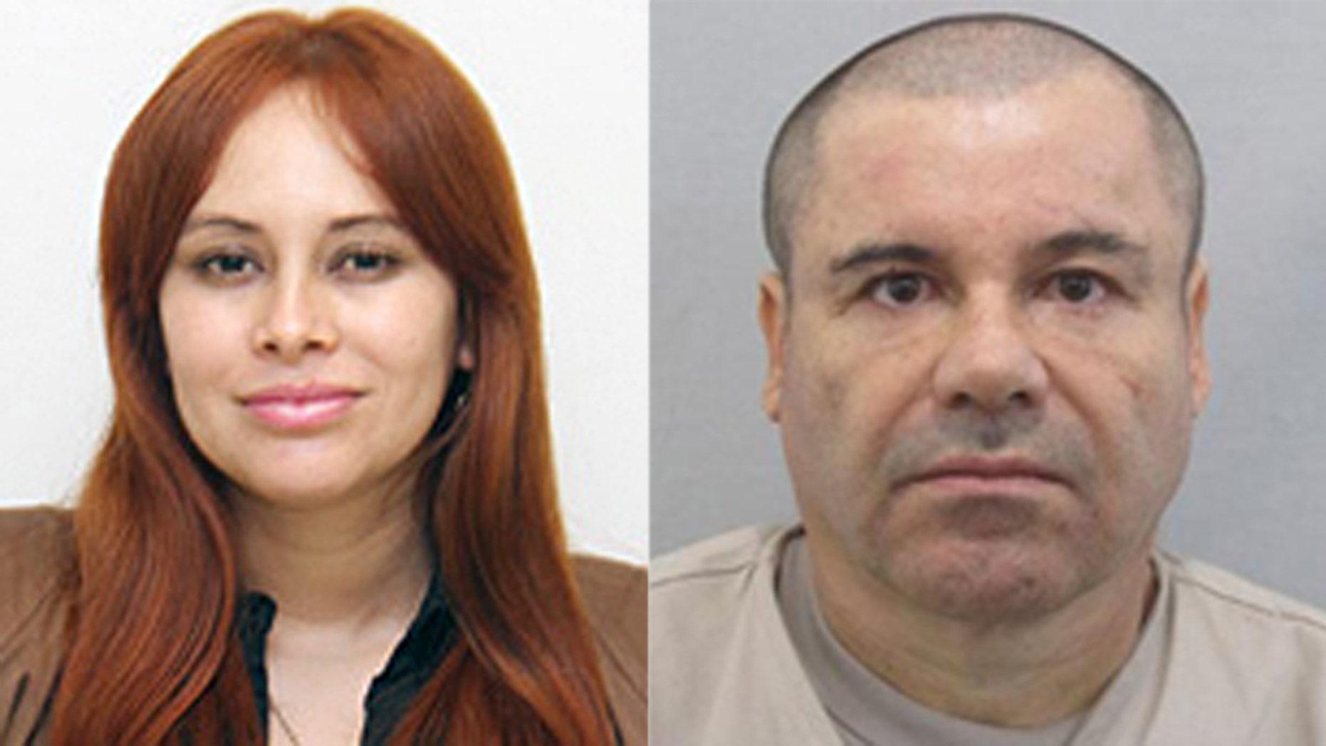 "Sinaloa state congreswoman Lucero Sanchez Lopez (left) and cartel kingpin Joaquin ""El Chapo"" Guzman (Photos: Sanchez Lopez, Congress of Sinaloa; Chapo, AP)"