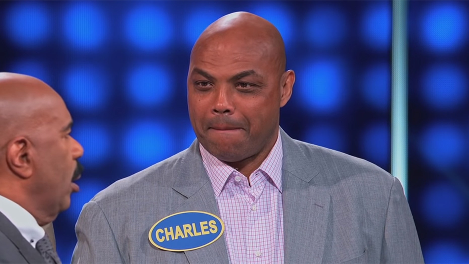 """Retired basketball player Charles Barkley said """"a child"""" could cover a broken zipper at church on ABC's """"Celebrity Family Feud."""""""