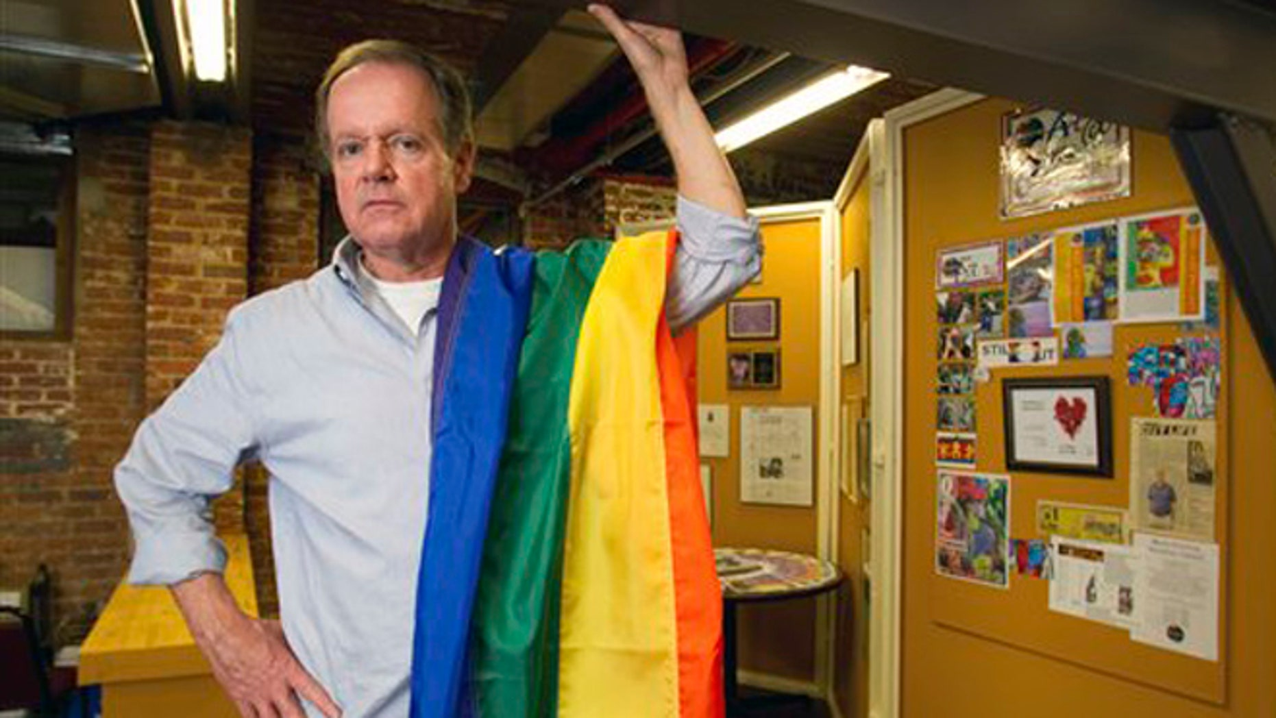 FILE: Aug. 20, 2012: Dave Webb, co-chair of the 2012 Pride Charlotte Festival, poses in the group's Charlotte, N.C. offices.