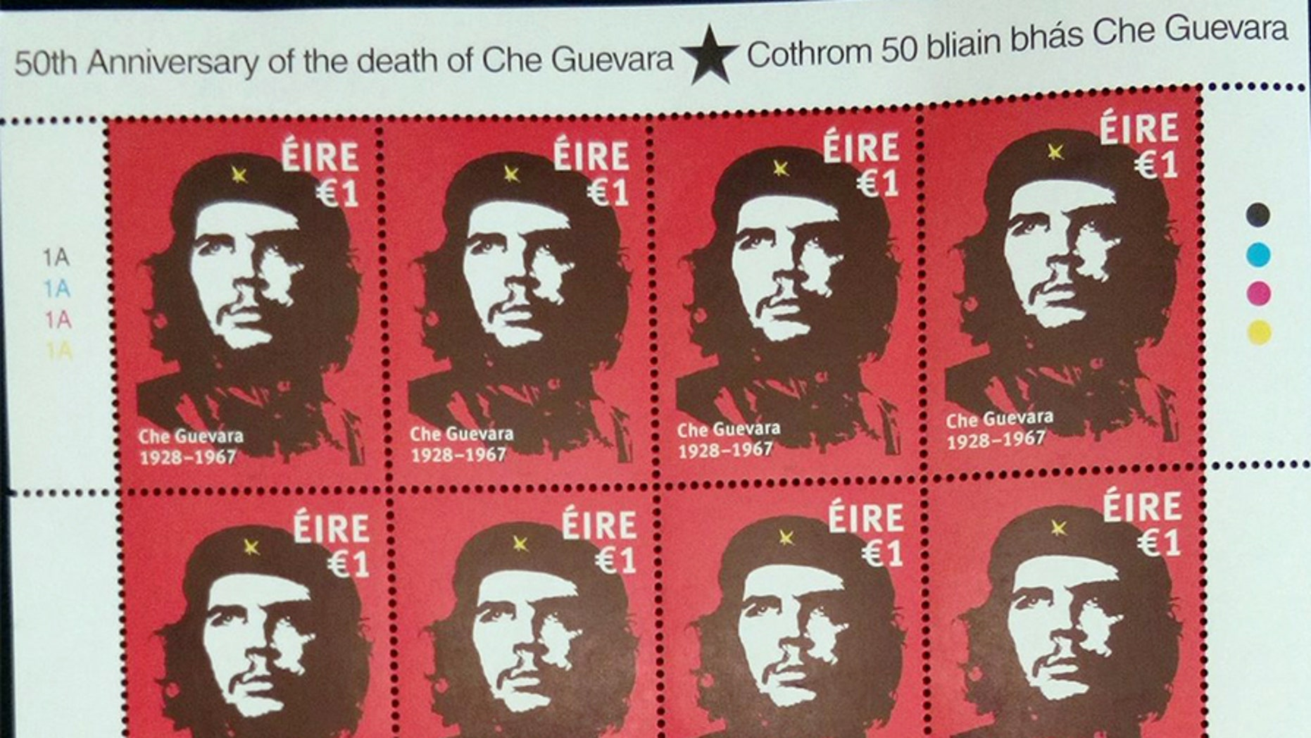 Ireland's Post Office chose the 50th anniversary of Che Guevara's death to issue a special stamp featuring the famous image of 'Che' by Dublin artist Jim Fitzpatrick.