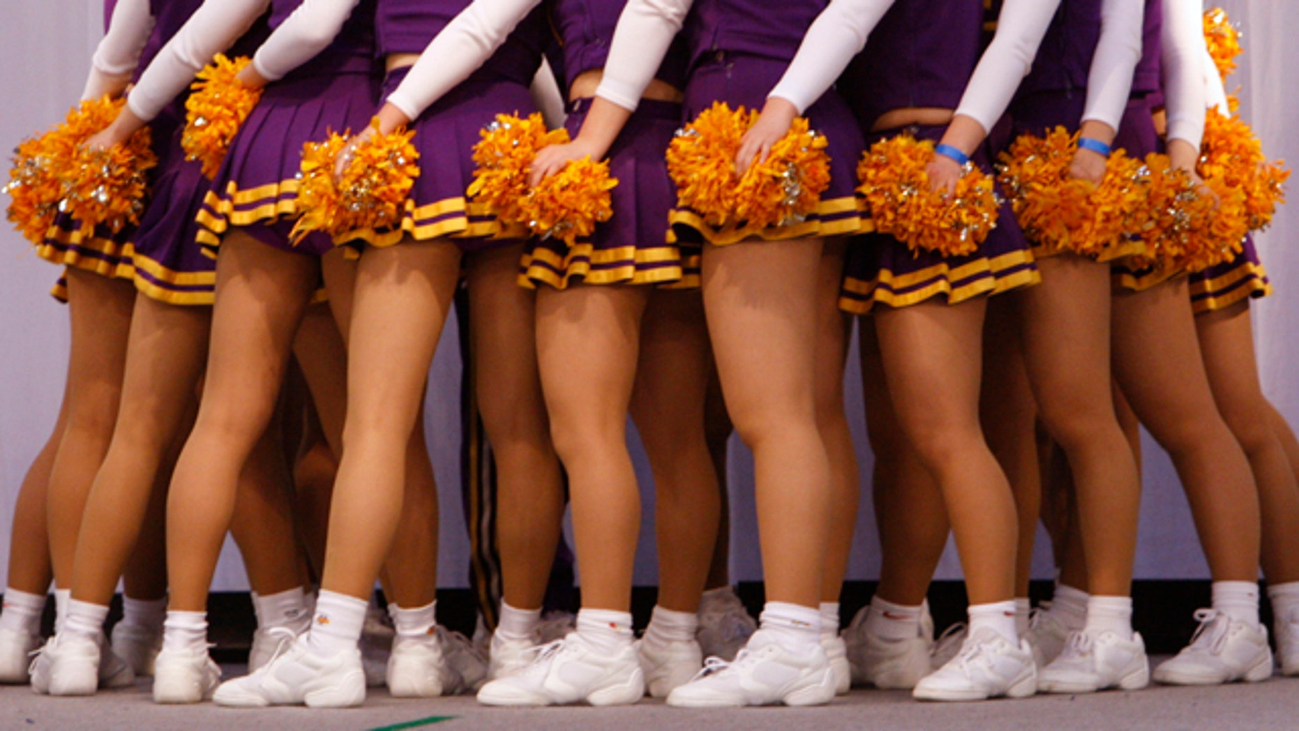 Cheerleader uniforms like the ones shown here are causing controversy at a California school.