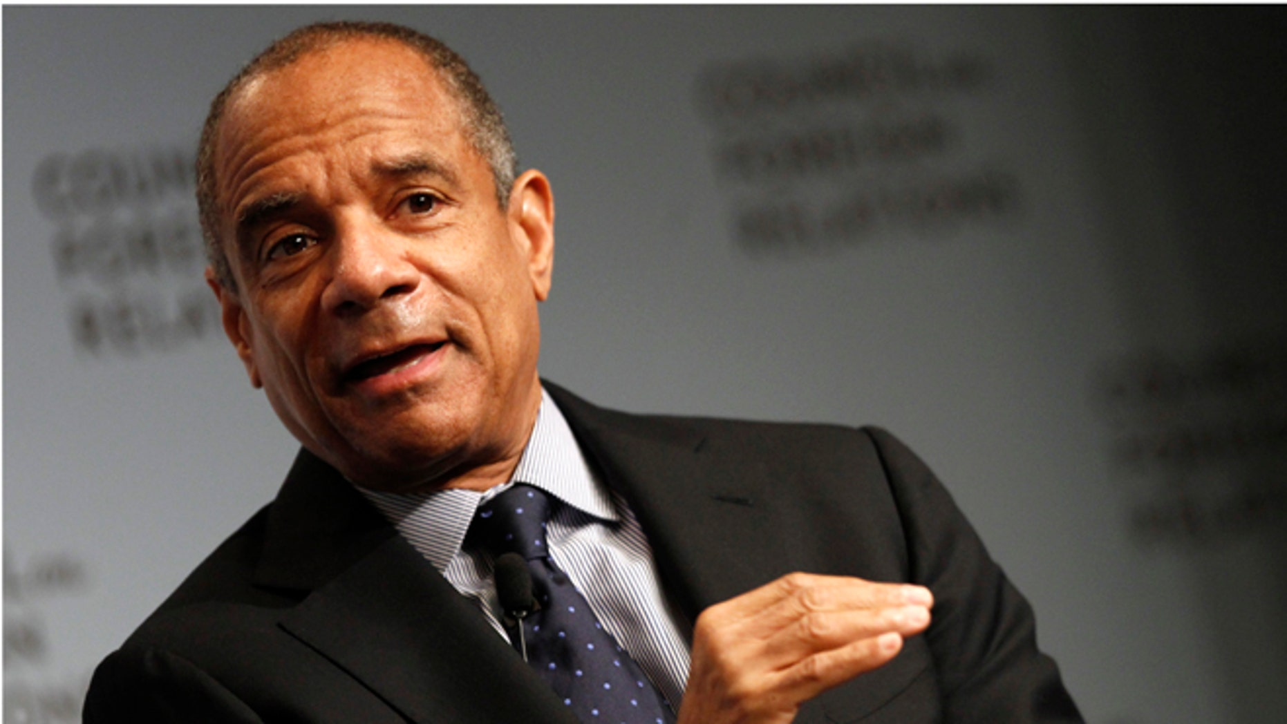 FILE: December 6, 2011: Chairman and CEO of American Express Company Kenneth Chenault speaks to the Council on Foreign Relations in New York.