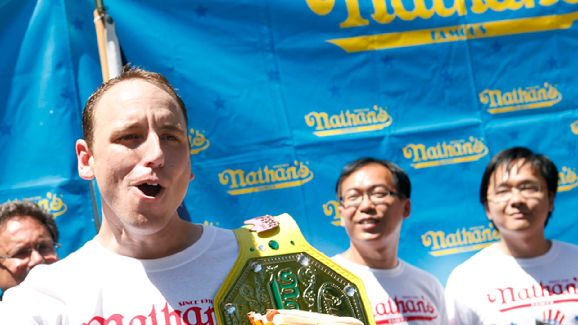 Joey Chestnut pictured days before winning the Nathan's Famous Fourth of July Hot Dog Eating Contest.