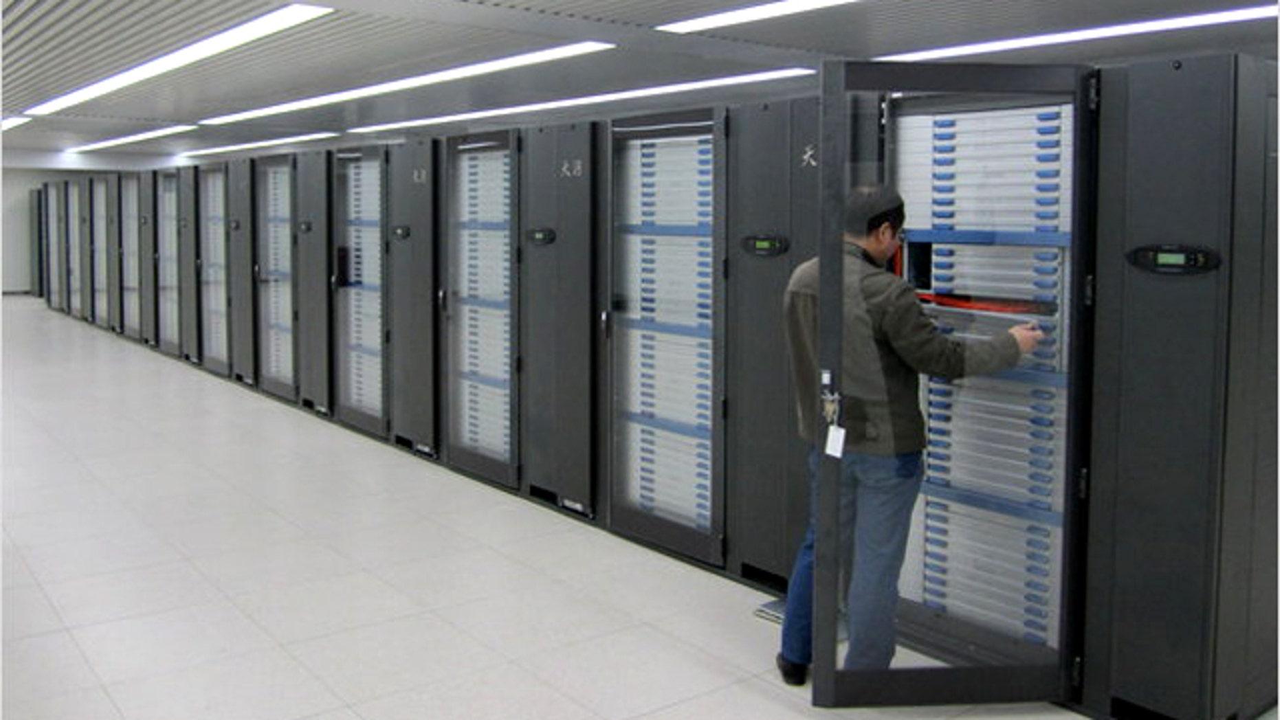 Big blue supercomputer