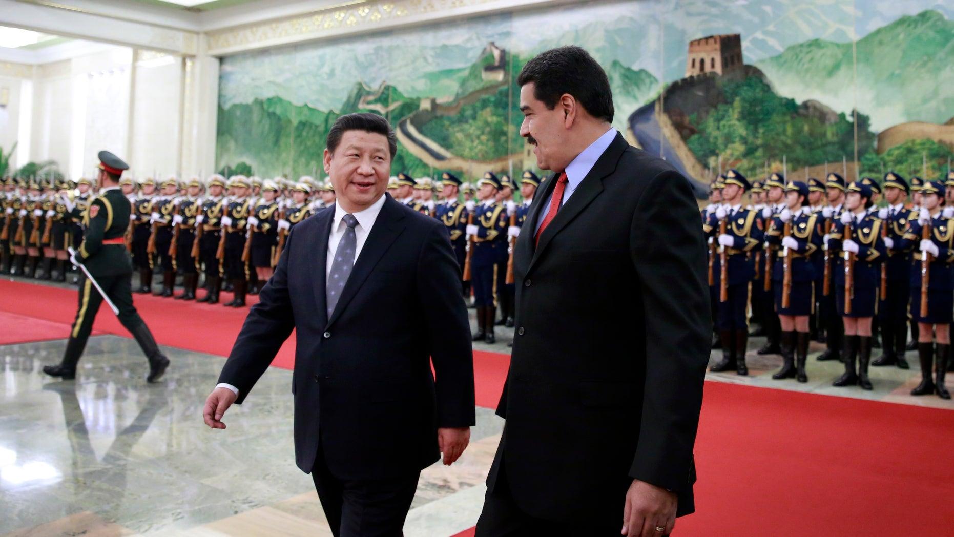 Venezuela's President Nicolas Maduro, and Chinese President Xi Jinping in Beijing, Wednesday, Jan. 7, 2015.
