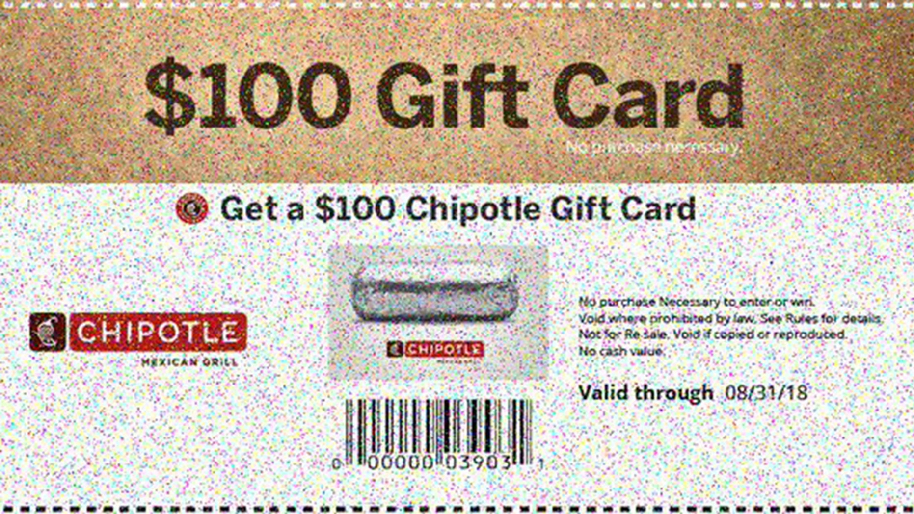 Many have fallen for a Chipotle gift card scam.