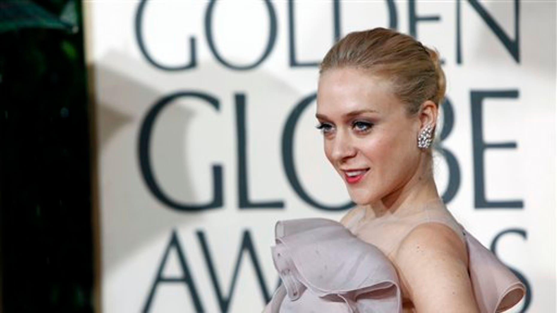 Chloe Sevigny arrives at the 67th Annual Golden Globe Awards on Saturday, Jan. 17, 2010, in Beverly Hills, Calif. (AP Photo/Matt Sayles)