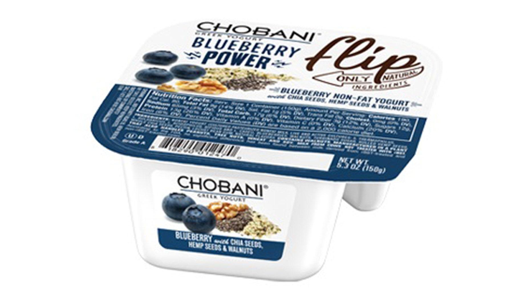 Chobani's Blueberry Power Flip yogurt