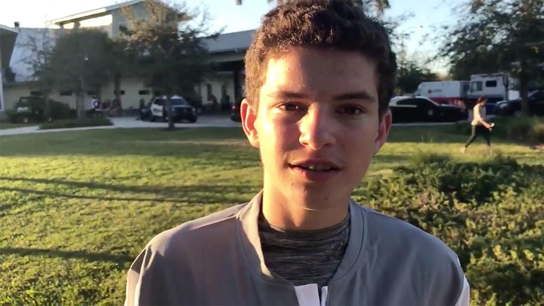 Parkland school shooting survivor Chris McKenna.
