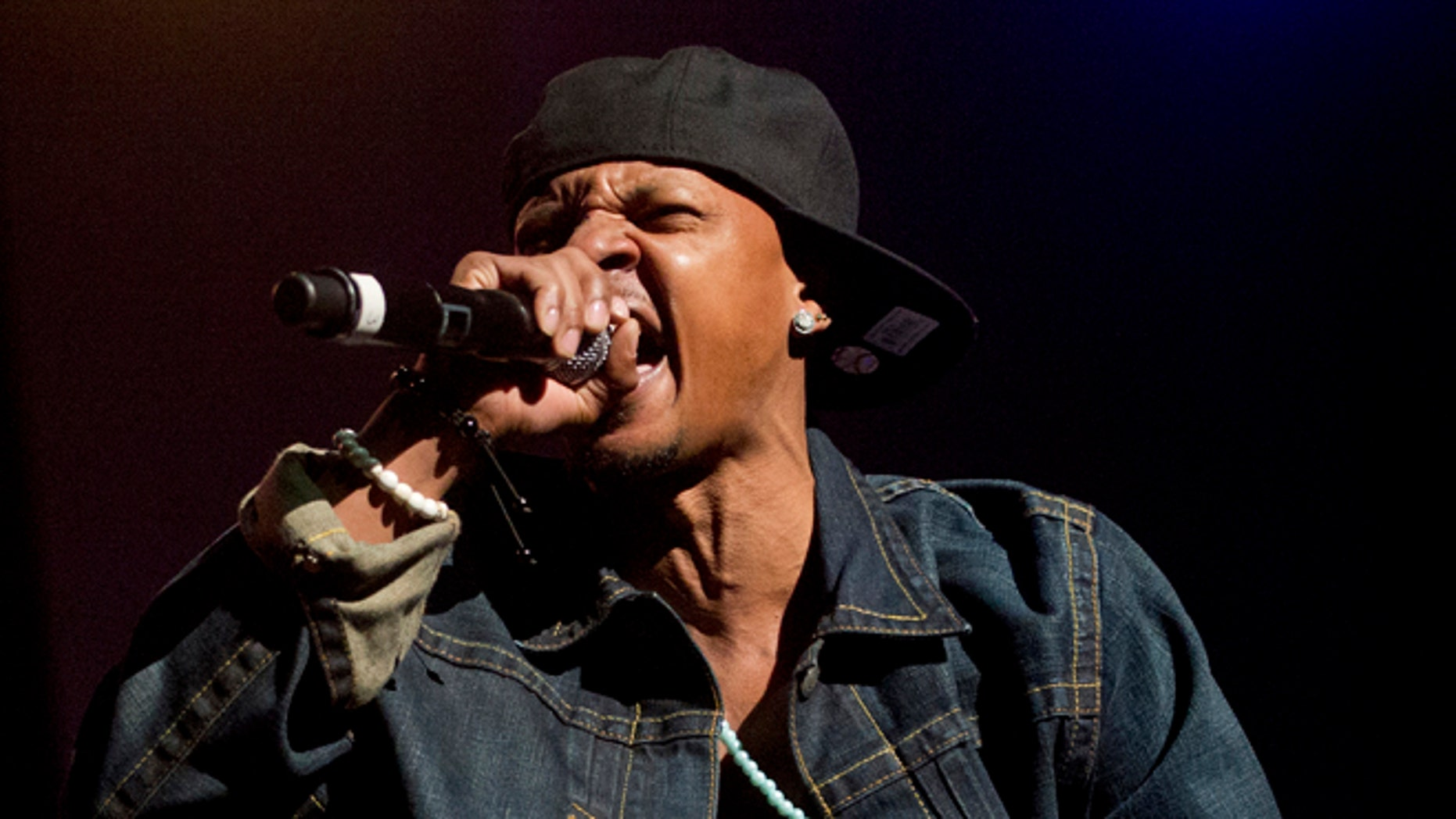 Feb. 23, 2013: In this file photo, Chris Kelly of Kris Kross performs on stage at the Fox Theatre in Atlanta during the So So Def 20th Anniversary Concert.