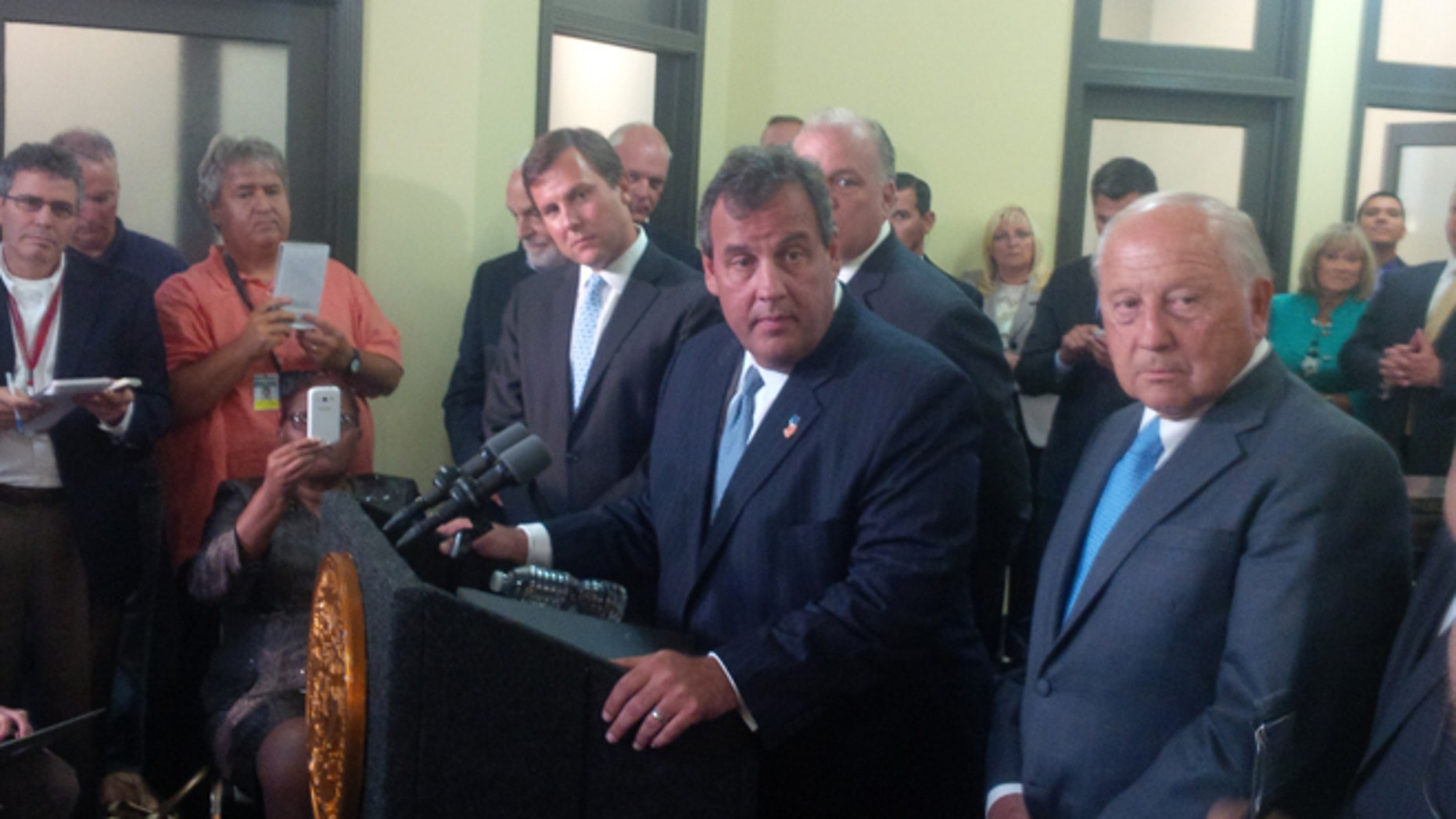 FILE: Sept. 8, 2014: New Jersey Gov. Chris Christie talks after a summit in Atlantic City, N.J., on how to help the resort after casino closings.