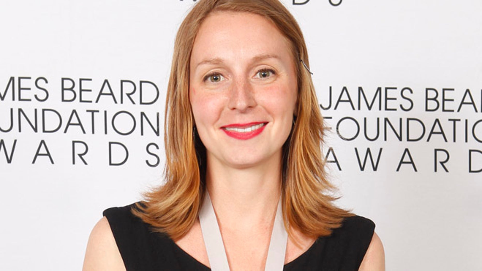 May 7, 2012: Christina Tosi, of Momofuku Milk Bar in New York, poses with her Rising Star Chef of the Year medal during the James Beard Foundation Awards in New York.