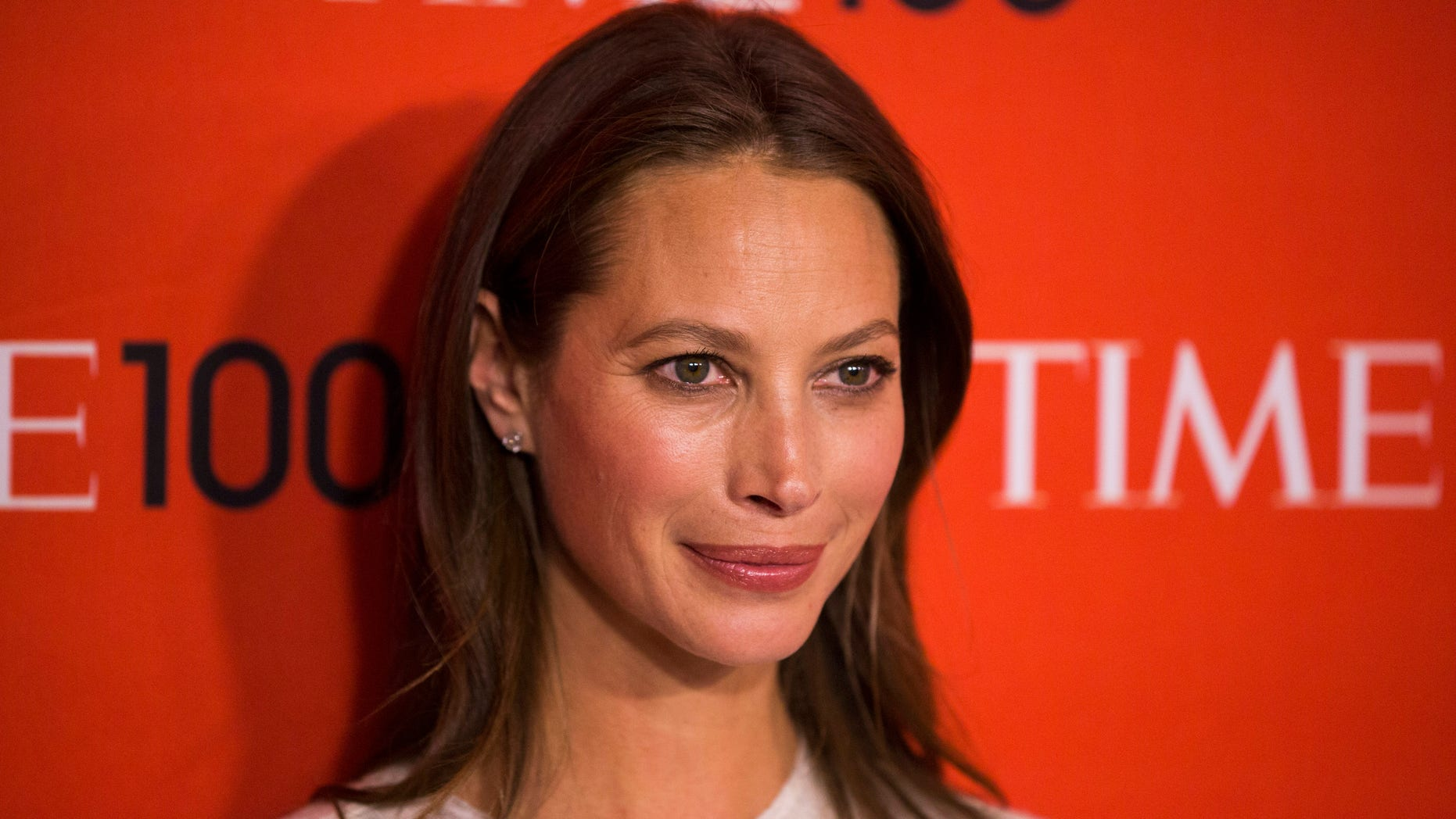 Honoree and model Christy Turlington Burns arrives at the Time 100 gala celebrating the magazine's naming of the 100 most influential people in the world for the past year, in New York April 29, 2014. REUTERS/Lucas Jackson (UNITED STATES - Tags: ENTERTAINMENT) - RTR3N658