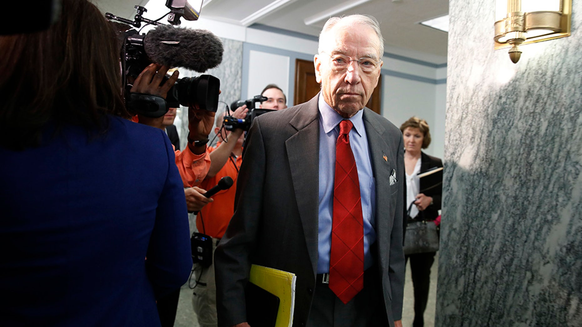 """Some staffers working in the office of Senate Judiciary Committee Chairman Chuck Grassley have been on the receiving end of a series of nasty phone calls that've included insults such as """"racist trash"""" and """"a disgusting excuse for a human being,"""" Fox News learned Wednesday."""