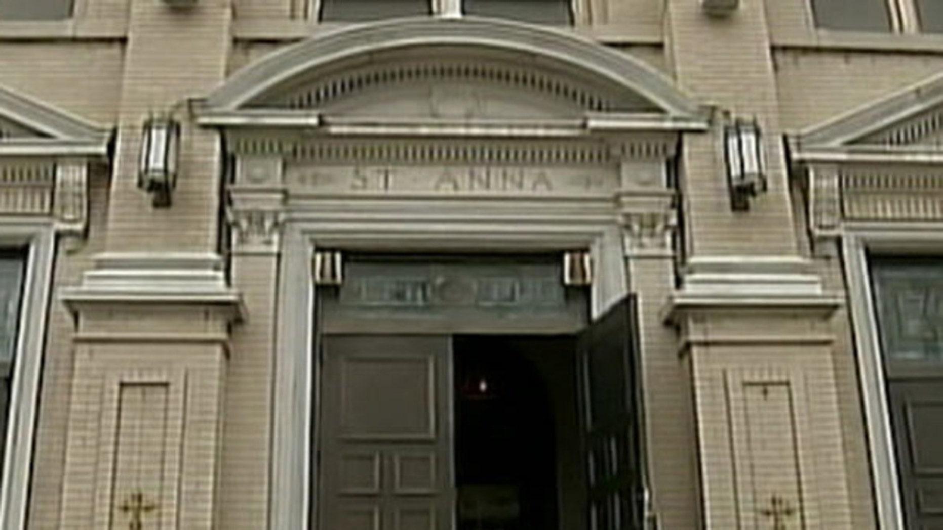 Mar. 21, 2012: This photo shows St. Ann's church.