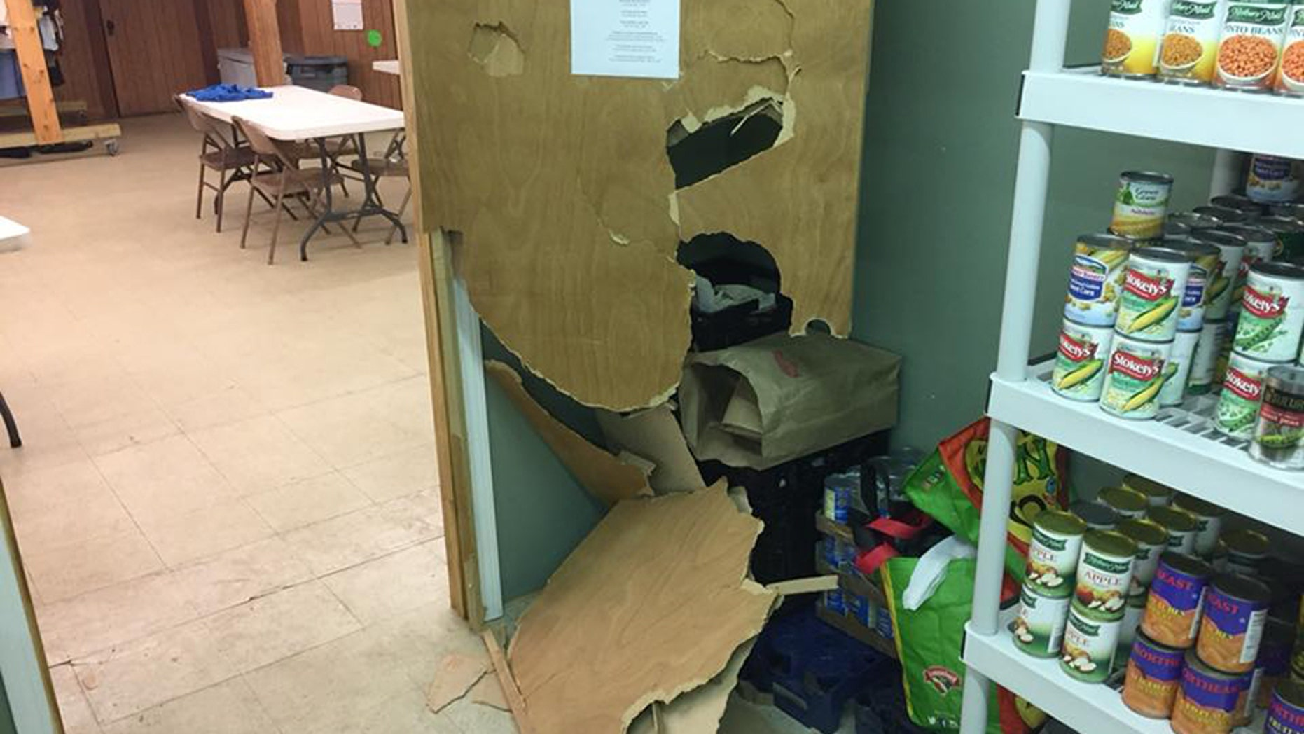 "The Old Orchard Beach United Methodist Church said that some time between Monday night and Tuesday morning, someone had ""forcibly entered the food pantry"" after entering the property through a door that had been left open."
