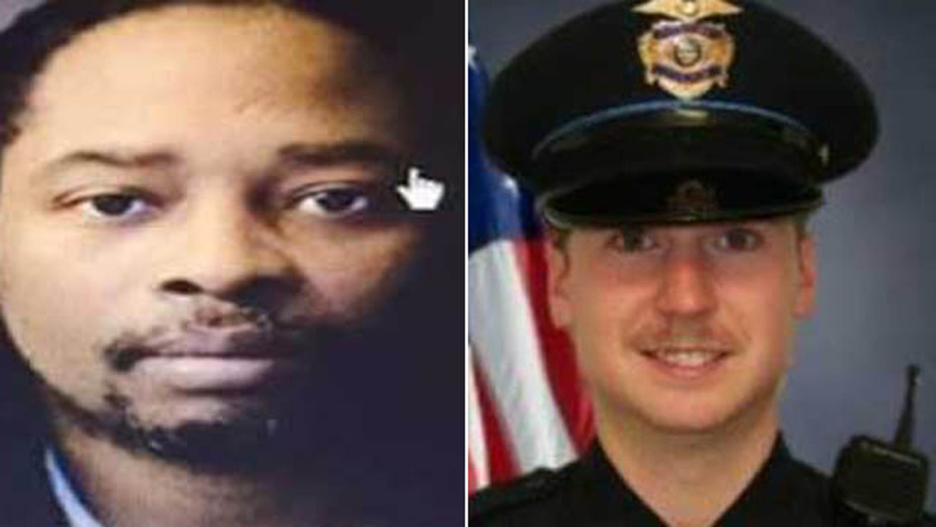 These undated photos show Samuel Dubose, left, and police officer Ray Tensing. Dubose was shot and killed by Tensing Sunday, July 19, 2015 after a confrontation during a traffic stop. (Dubose family/Greenhils Police Department)
