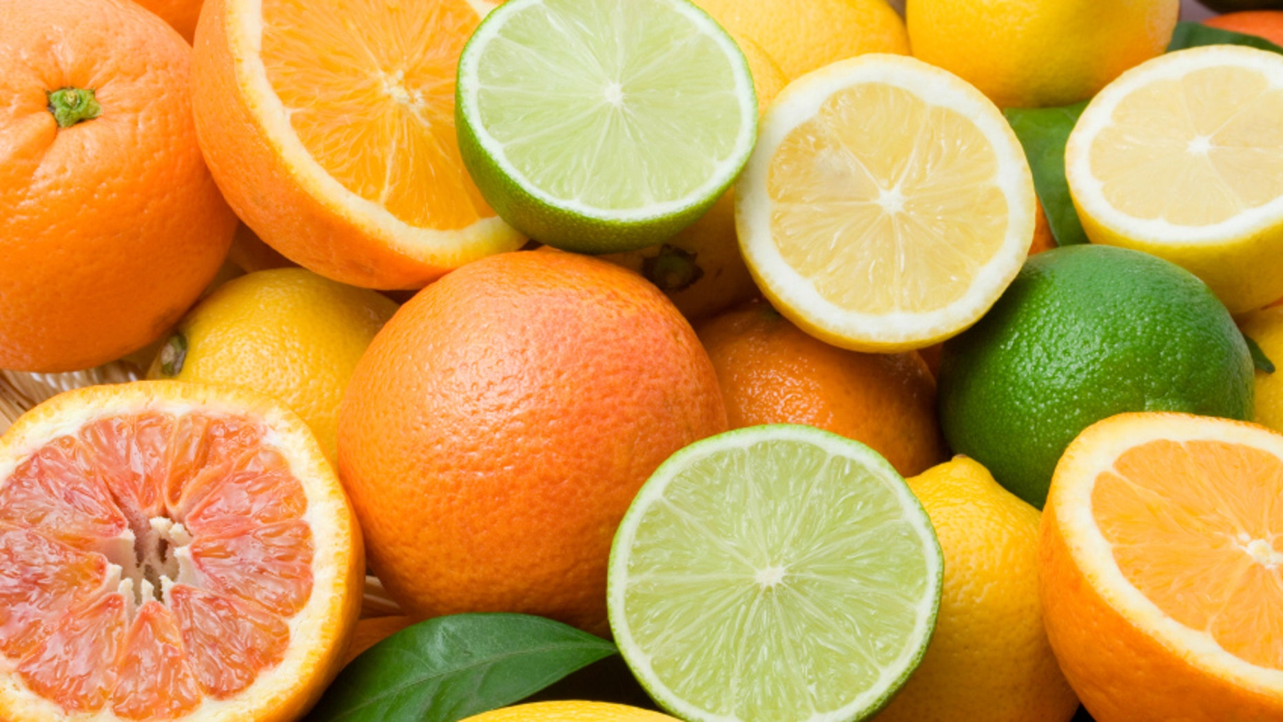 Lemon, lime, tangerine, orange  and grapefruit background