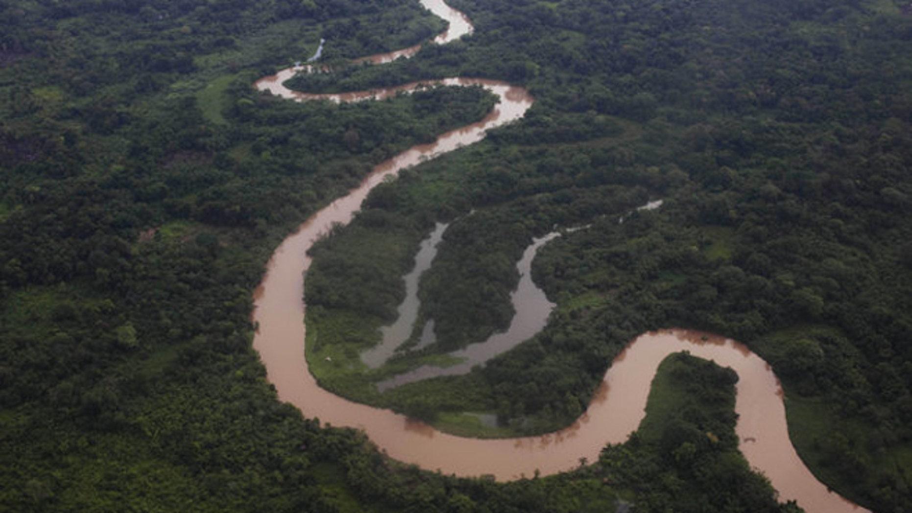 An aerial view of Honduras' Mosquitia region.
