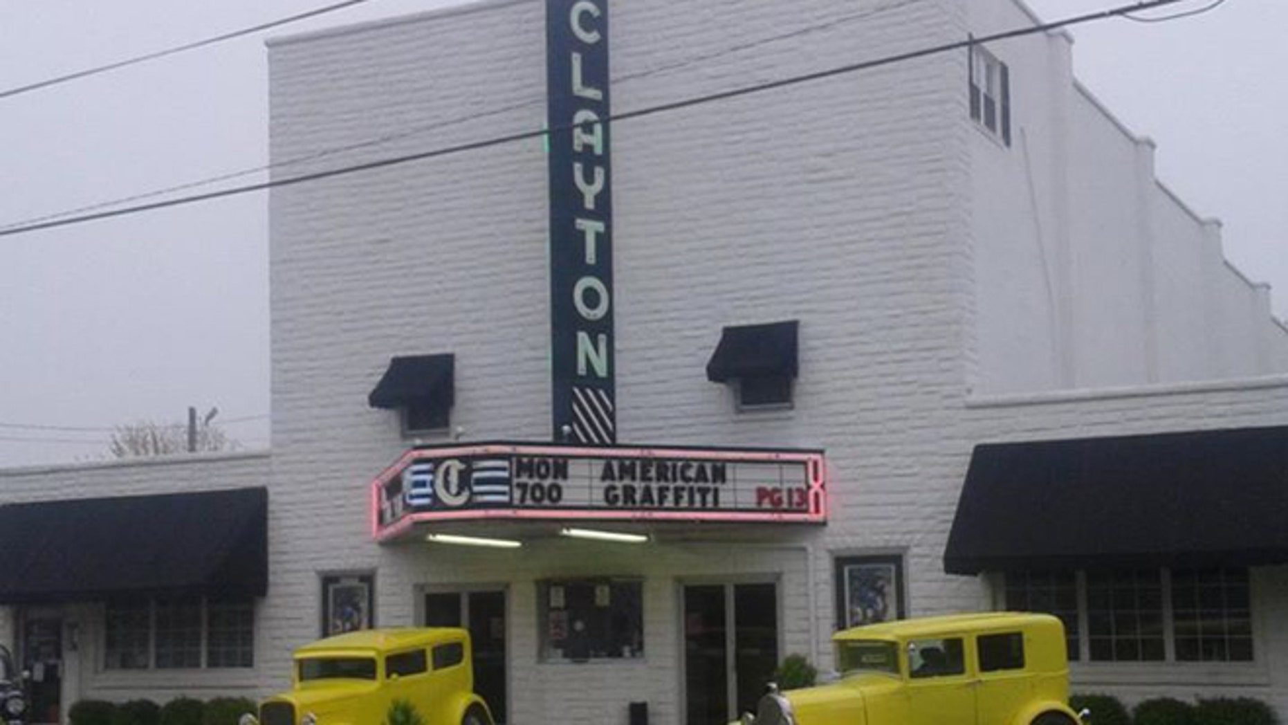 FILE: Undated. The exterior of the Clayton Theatre, an independent movie house in the small southern Delaware town of Dagsboro.