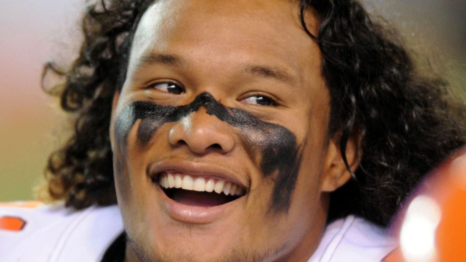 Aug 13, 2015; Cleveland, OH, USA; Cleveland Browns defensive tackle Danny Shelton (71) on the sideline against the Washington Redskins in a preseason NFL football game at FirstEnergy Stadium. Mandatory Credit: Ken Blaze-USA TODAY Sports