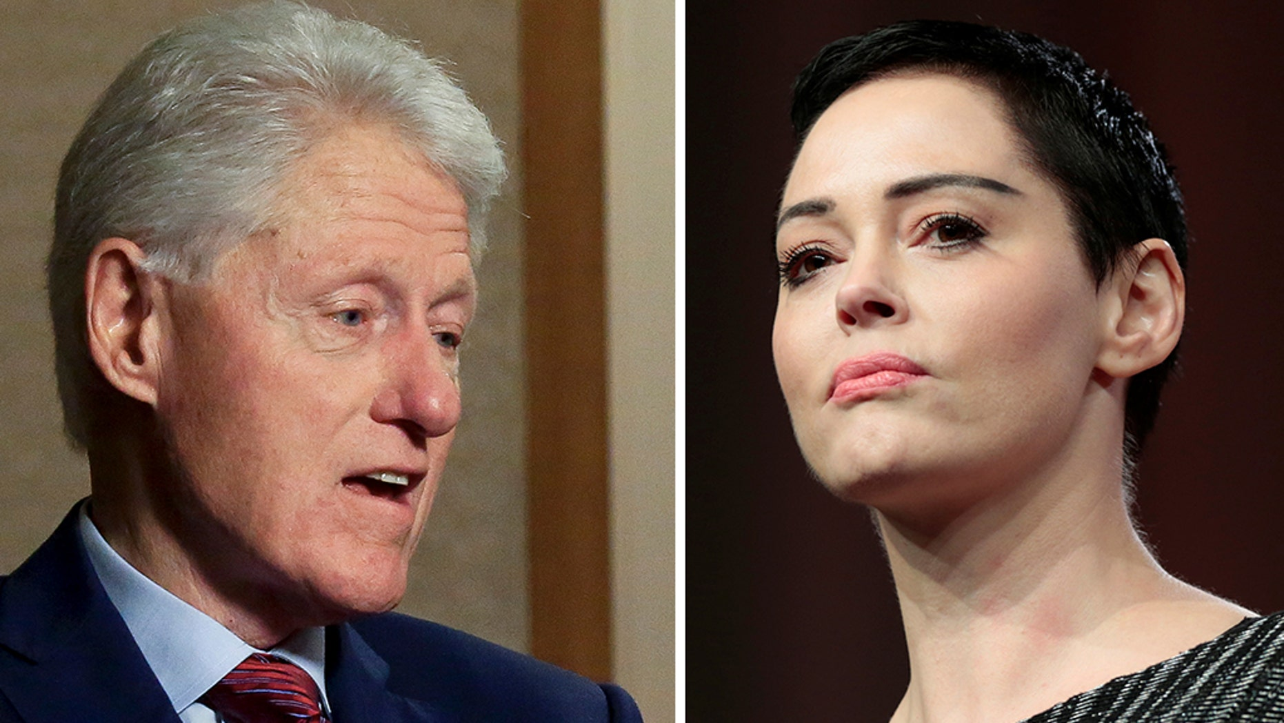 """Actress and #MeToo activist Rose McGowan slammed former President Bill Clinton on Monday, tweeting that he """"altered & destroyed"""" Monica Lewinsky's life."""