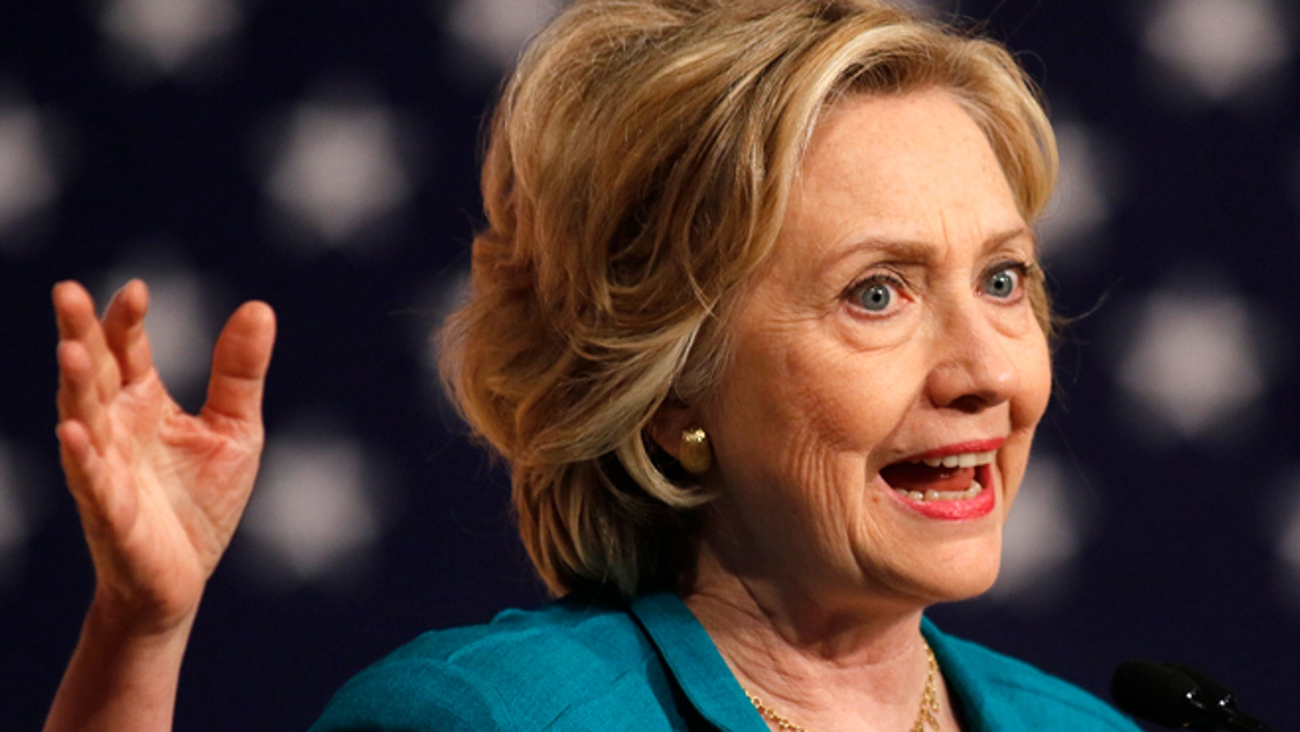 July 31, 2015: Democratic U.S presidential candidate Hillary Clinton makes a speech on Cuban relations at Florida International University in Miami, Florida.