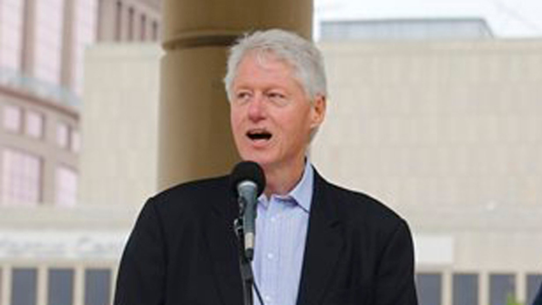 June 1, 2012: Former President Bill Clinton in Wisconsin before the recall election.