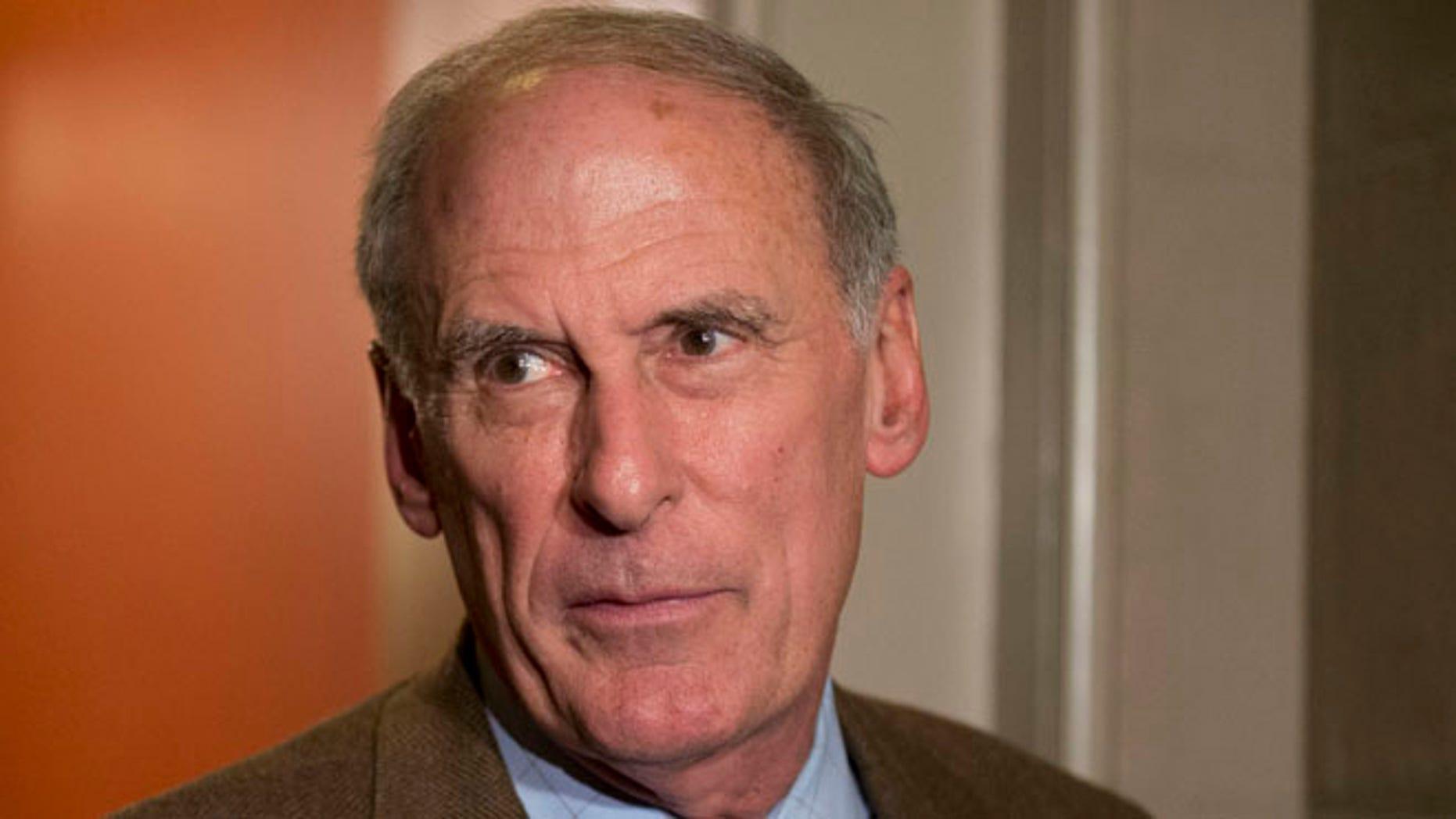 FILE: Dec. 31, 2012: Sen. Dan Coats, R-Ind., speaks on Capitol Hill in Washington, D.C.