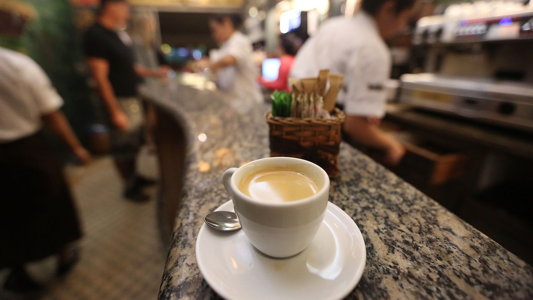 RIO DE JANEIRO, BRAZIL - AUGUST 28:  A cup of coffee made from Brazilian Arabica coffee beans sits in a coffee shop on August 28, 2014 in Rio de Janeiro, Brazil. Arabica coffee prices have been surging this year following one of the worst droughts in decades for coffee makers in Brazil. Brazil produces more coffee than any other country.  (Photo Illustration by Mario Tama/Getty Images)