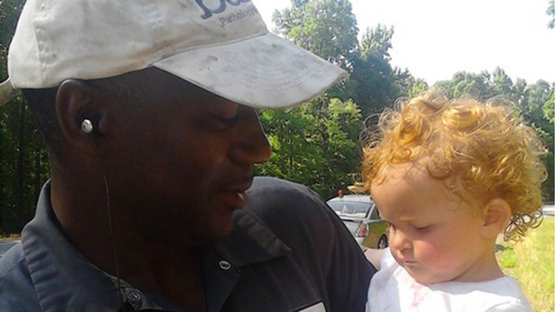Bryant Collins spotted the girl around 10 a.m. Friday as he drove along Highway 72 in Carlton, which is east of Atlanta.