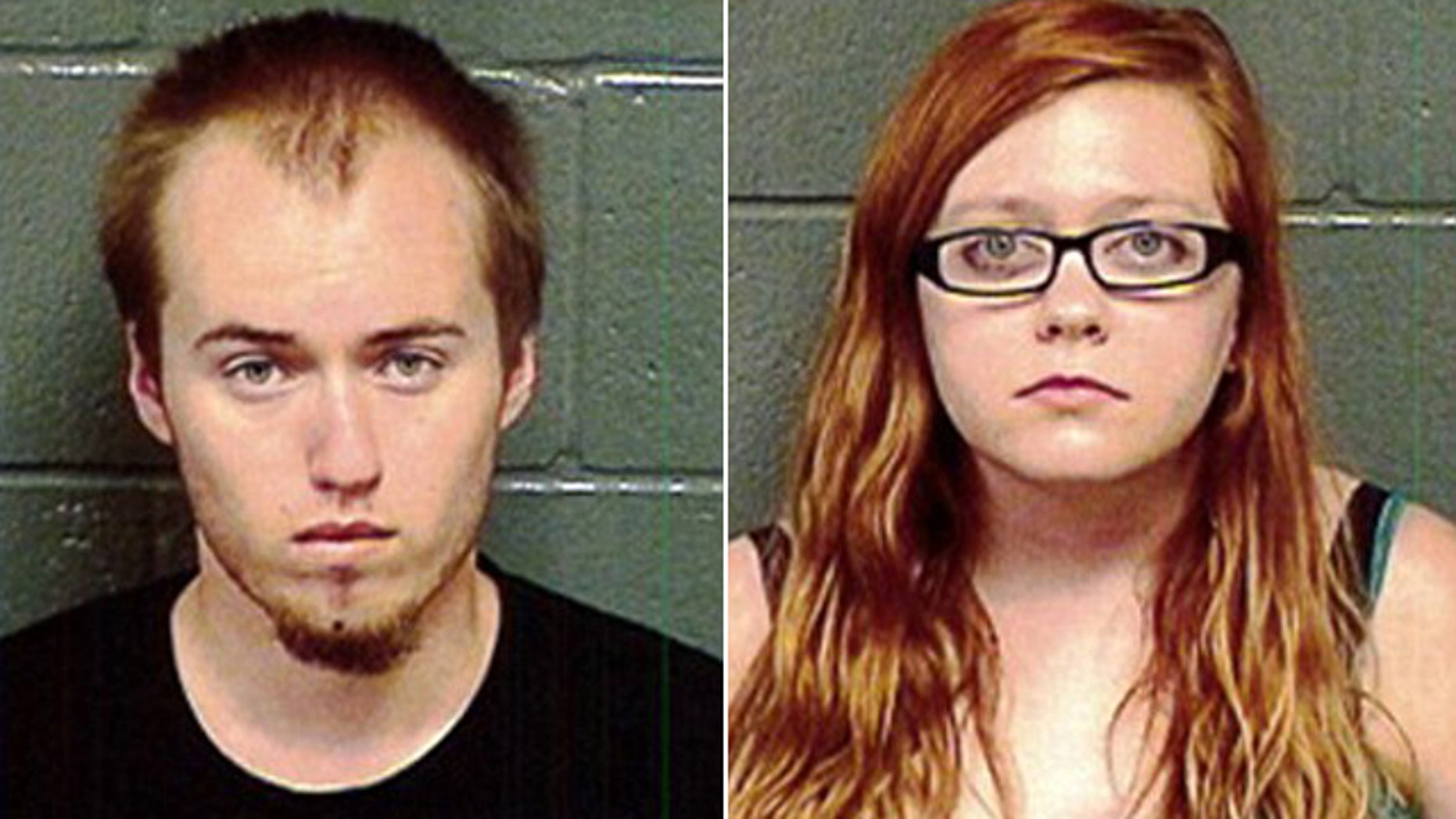 June 4, 2014: These photos show Brendan Lee Johnson, 19, and girlfriend Cassandra Ann Rieb. Both face possible first-degree murder charges in connection with deaths of Johnson's grandparents. (Reuters)