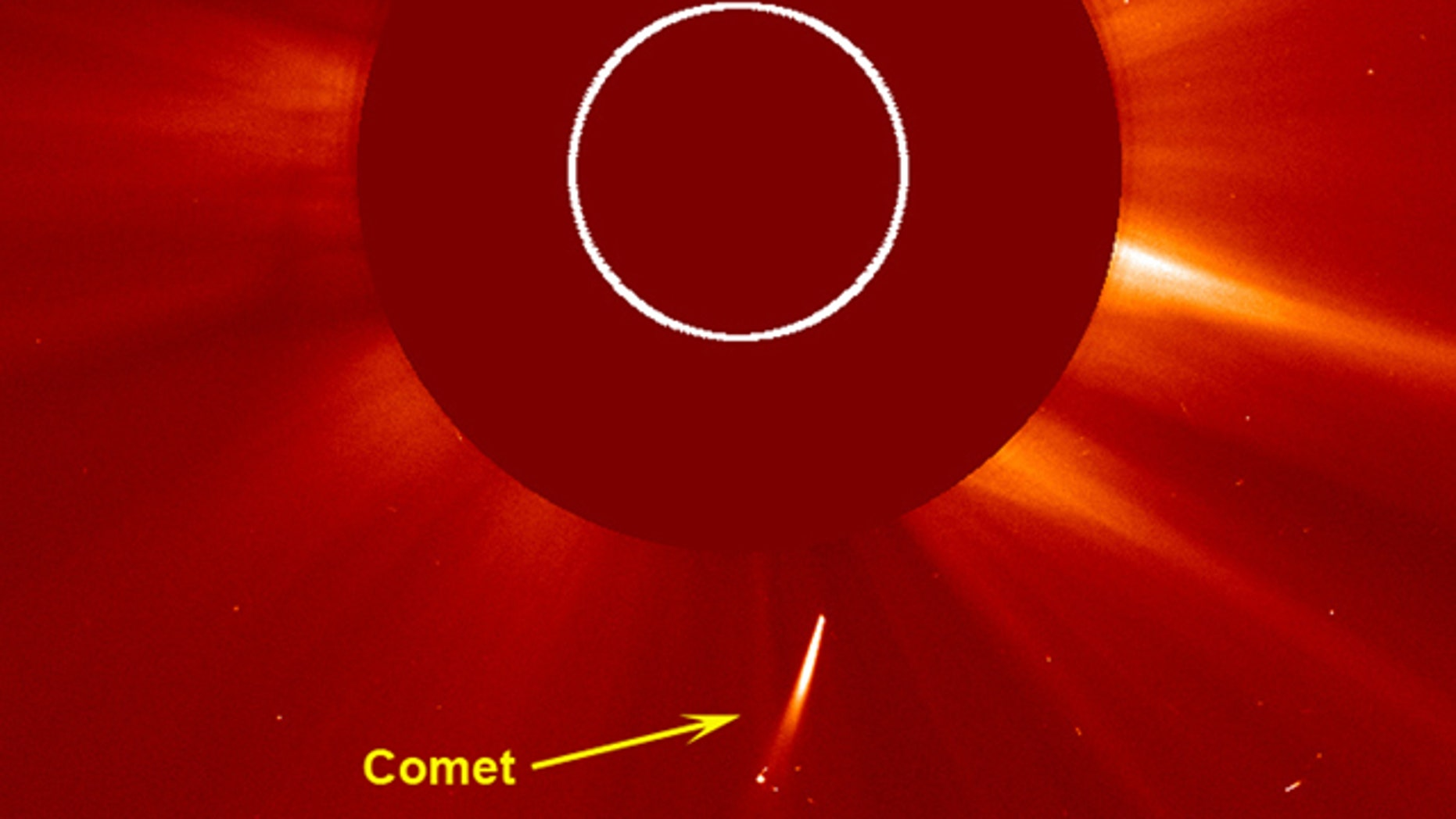 NASA captured a stunning video showing this fairly bright white comet as it dove towards the Sun -- and was never heard from again.