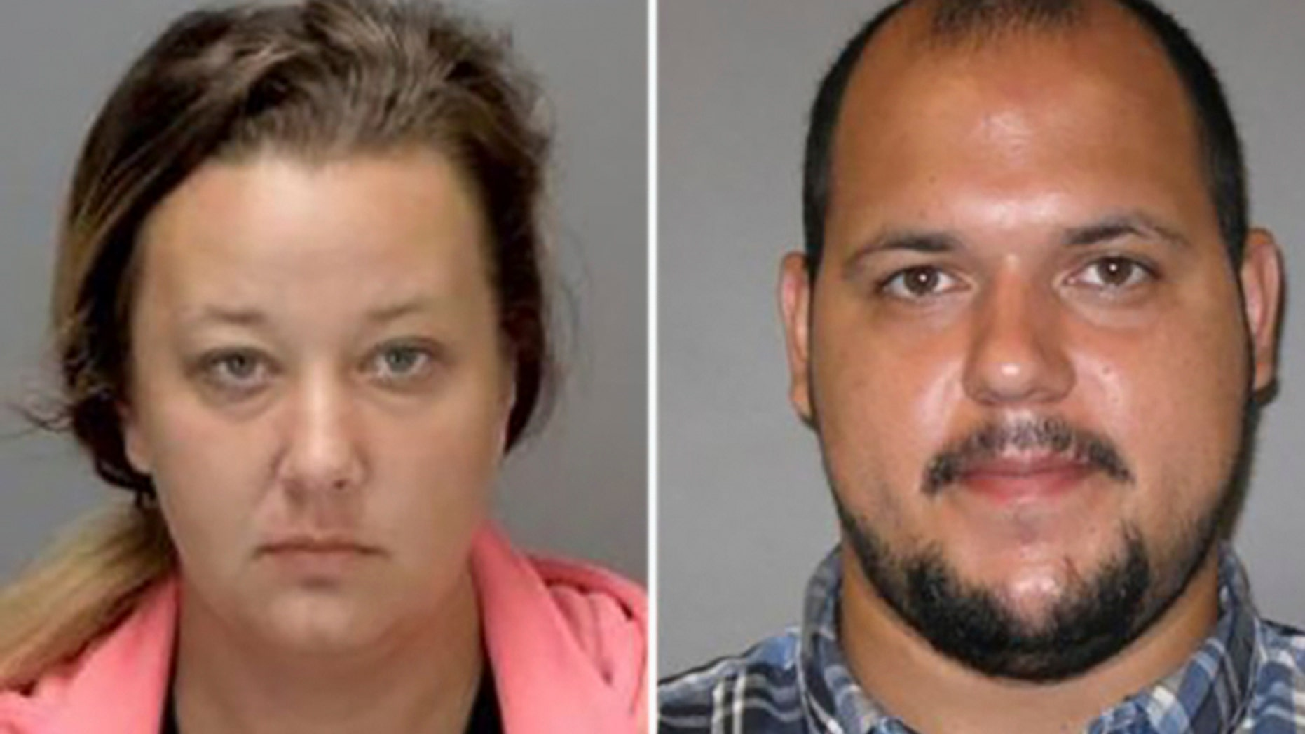 Yenier Conde, right, and Sarah Conde, left, were charged with 10 counts of first and second degree child abuse and unlawful imprisonment on Friday after investigators said they routinely physically and verbally abused their five children over the course of six years.
