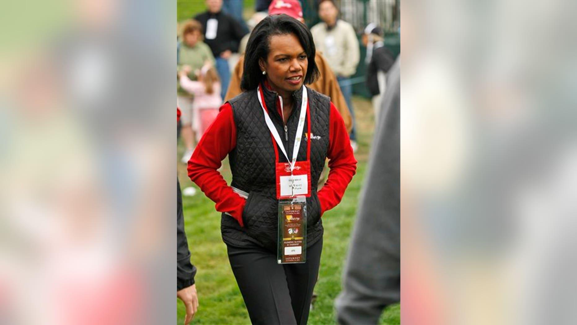 Condoleezza Rice at 2009 Presidents Cup