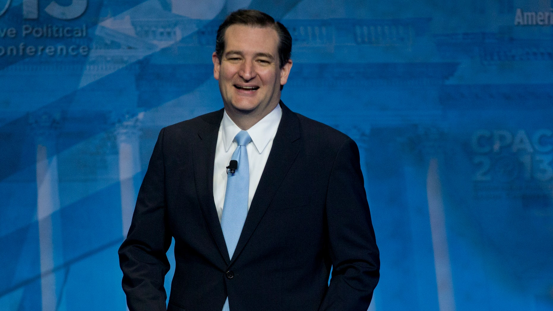 Sen. Ted Cruz, R-Texas, arrives to speak at the 40th annual Conservative Political Action Conference in National Harbor, Md., Saturday, March 16, 2013.