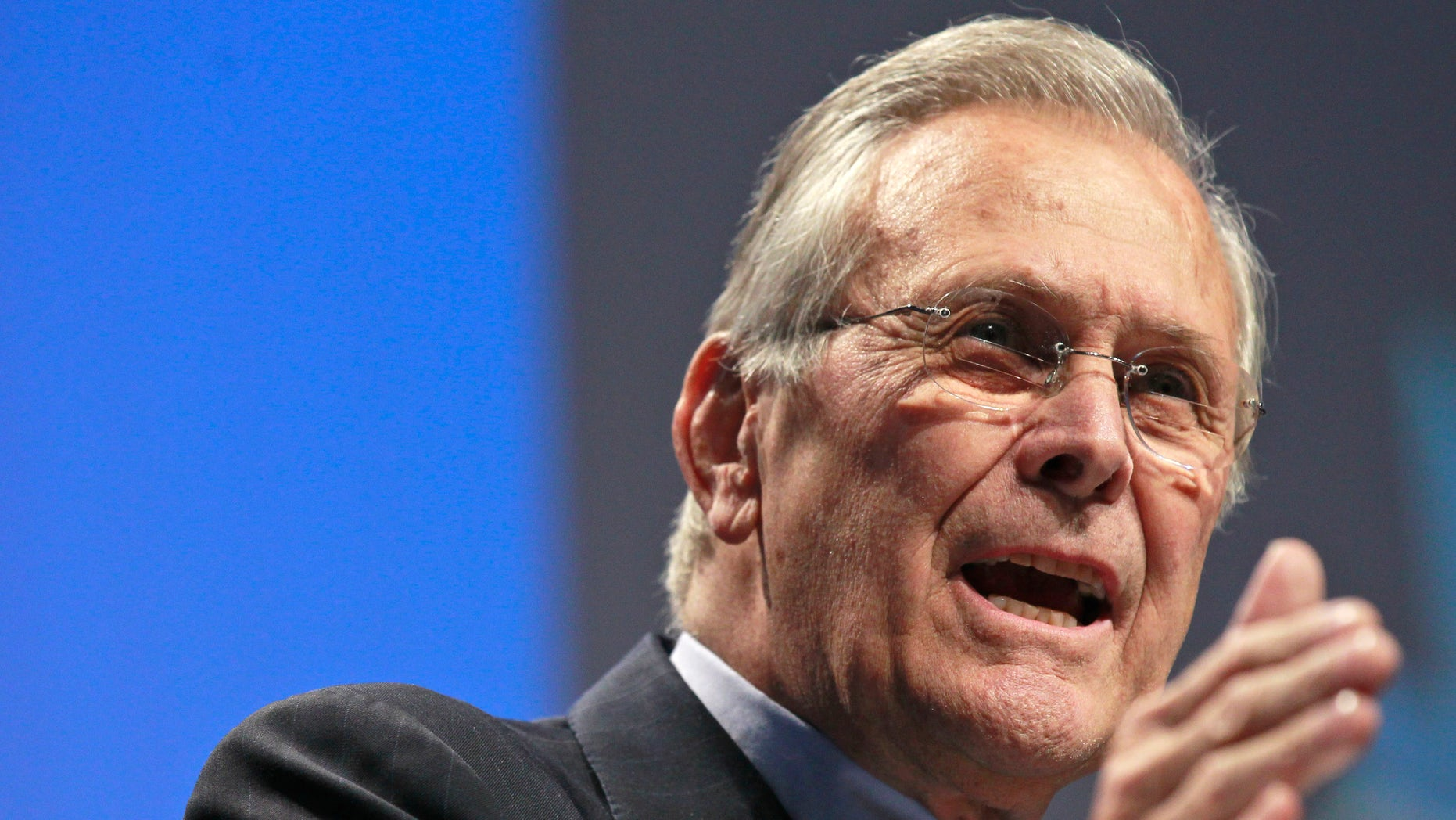 Feb. 10: Former Defense Secretary Donald H. Rumsfeld addresses the Conservative Political Action Conference in Washington, D.C.