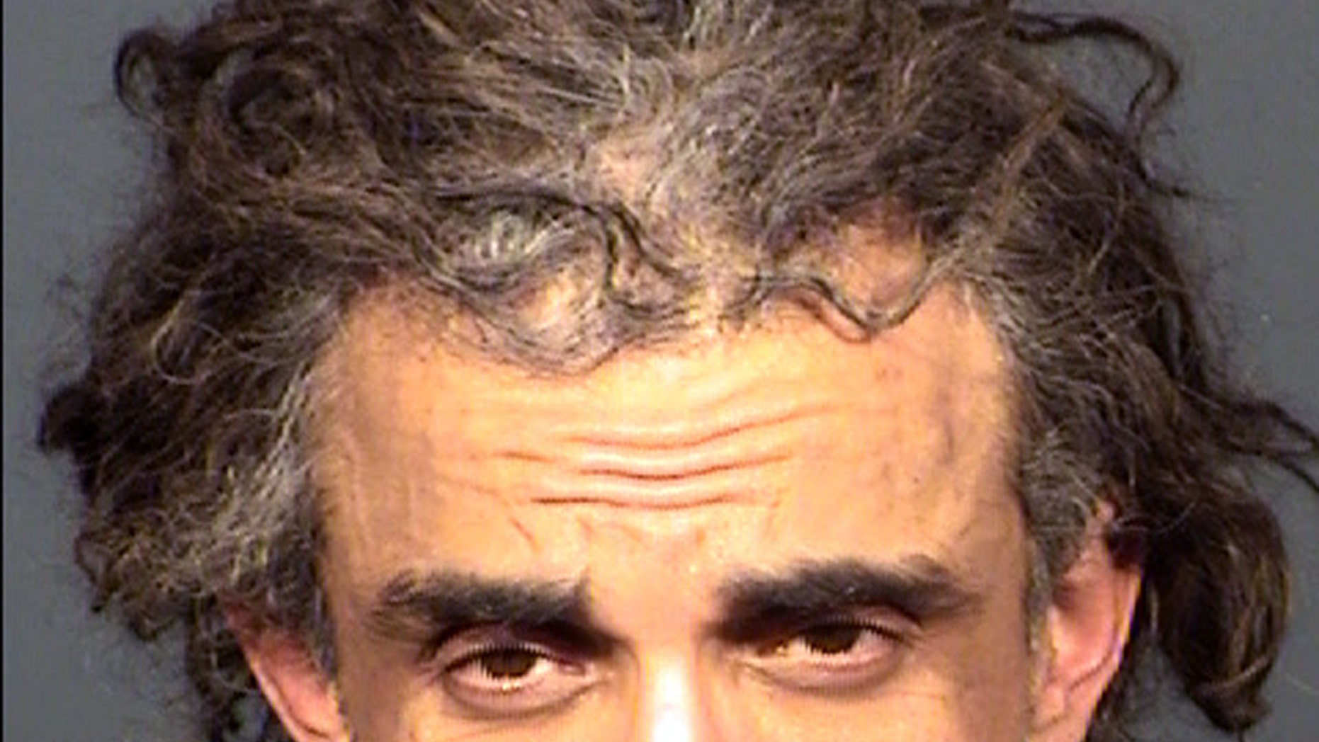 This undated Clark County Detention Center photo provided by the Las Vegas Metropolitan Police Department shows Afshin Bahrampour. Las Vegas police say Bahrampour is being held pending a court appearance on suspicion of starting two fires on Monday, May 8, 2017, at a Jewish synagogue in Las Vegas. (Las Vegas Metropolitan Police Department via AP)