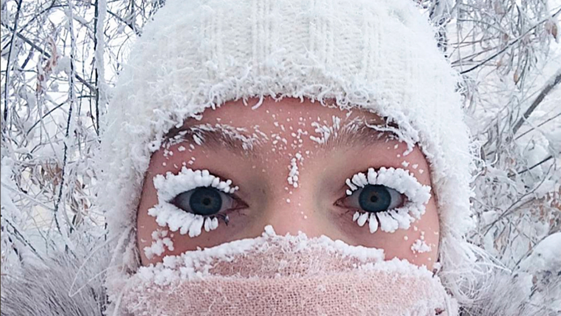Even The Eyelashes Freeze Russia Sees Minus 88 6 Degrees F