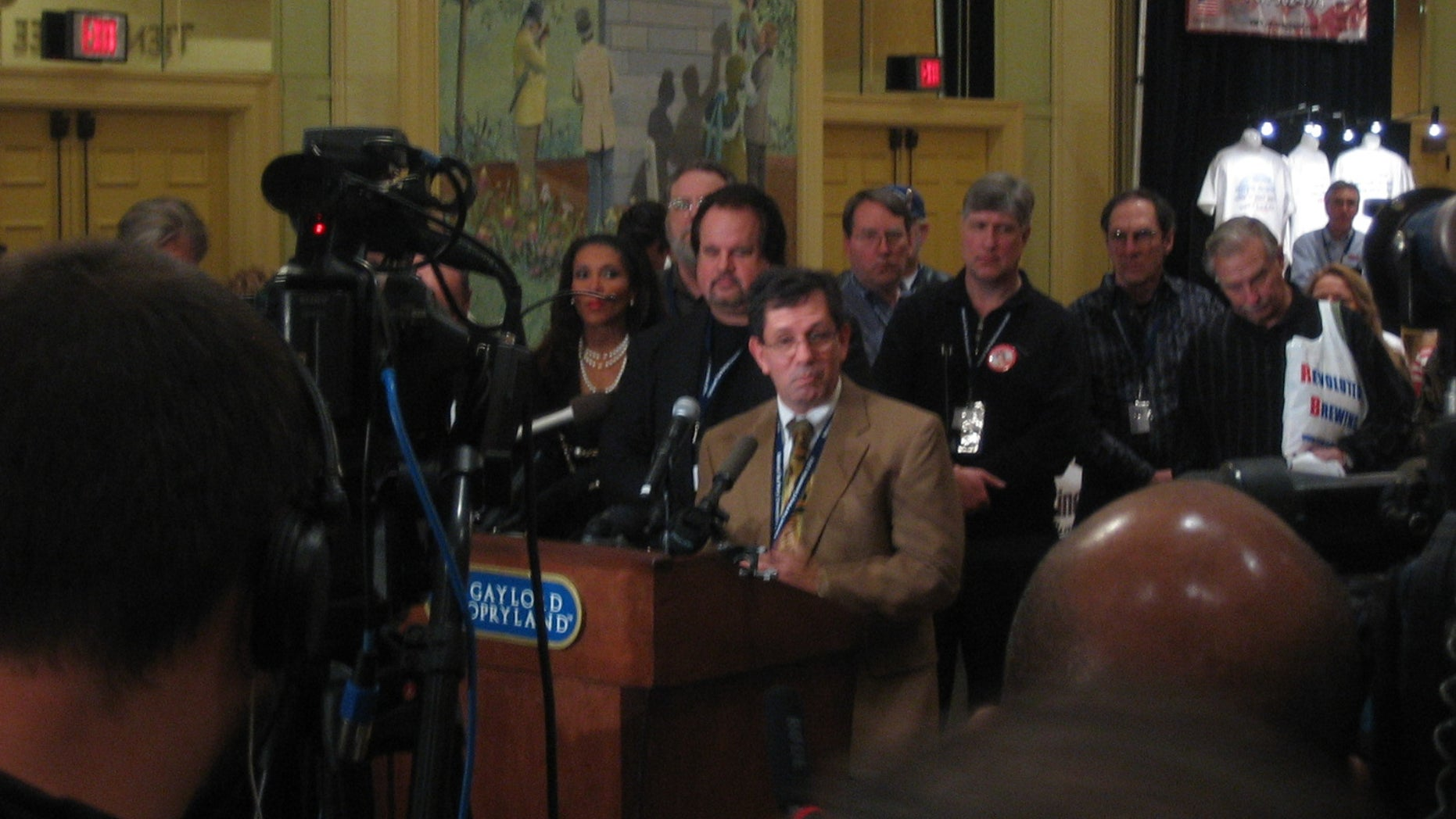 Feb. 5, 2010: National Tea Party Convention organizer Judson Phillips addresses questions at a news conference in Nashville.
