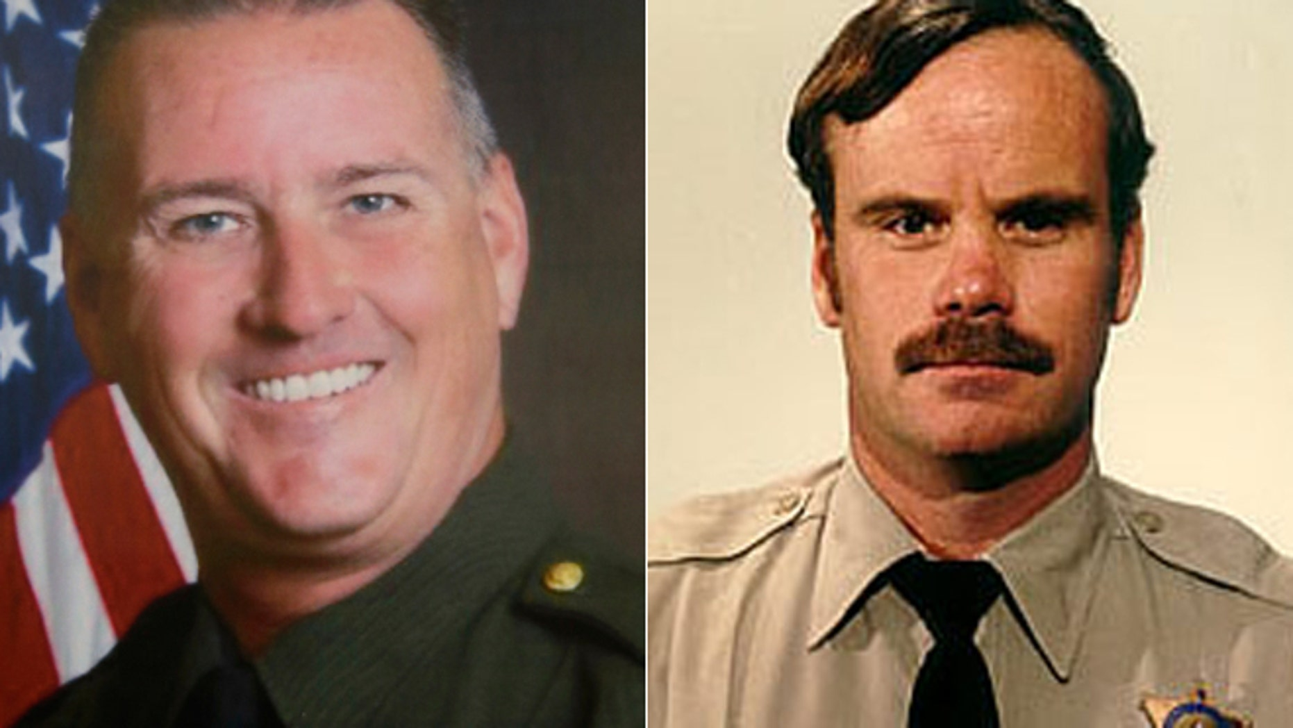 From the left, Placer County Sheriff's Deputy Michael David Davis Jr. was killed in the line of duty exactly 26 years after his father, Riverside County Sheriff's Deputy Michael David Davis, died in a helicopter crash.