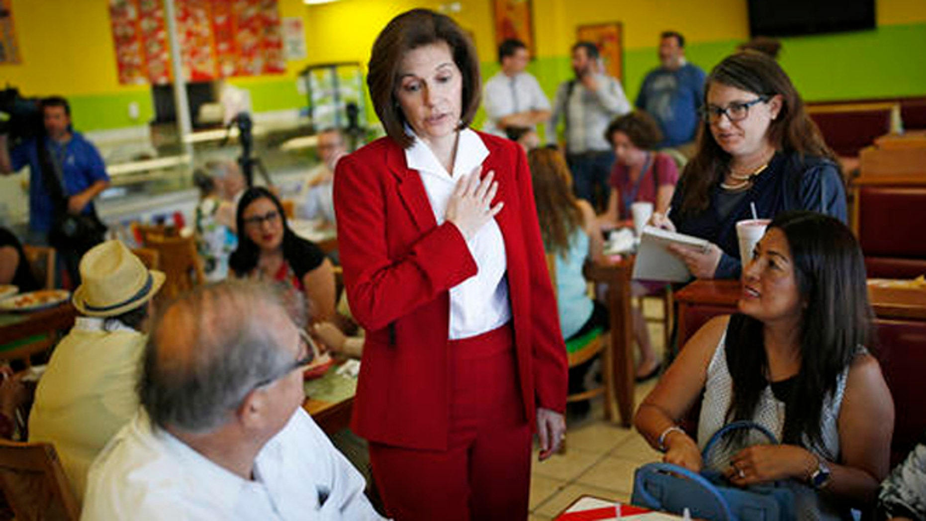U.S. Senate candidate Catherine Cortez Masto during an event in Las Vegas on Tuesday, May 31, 2016.